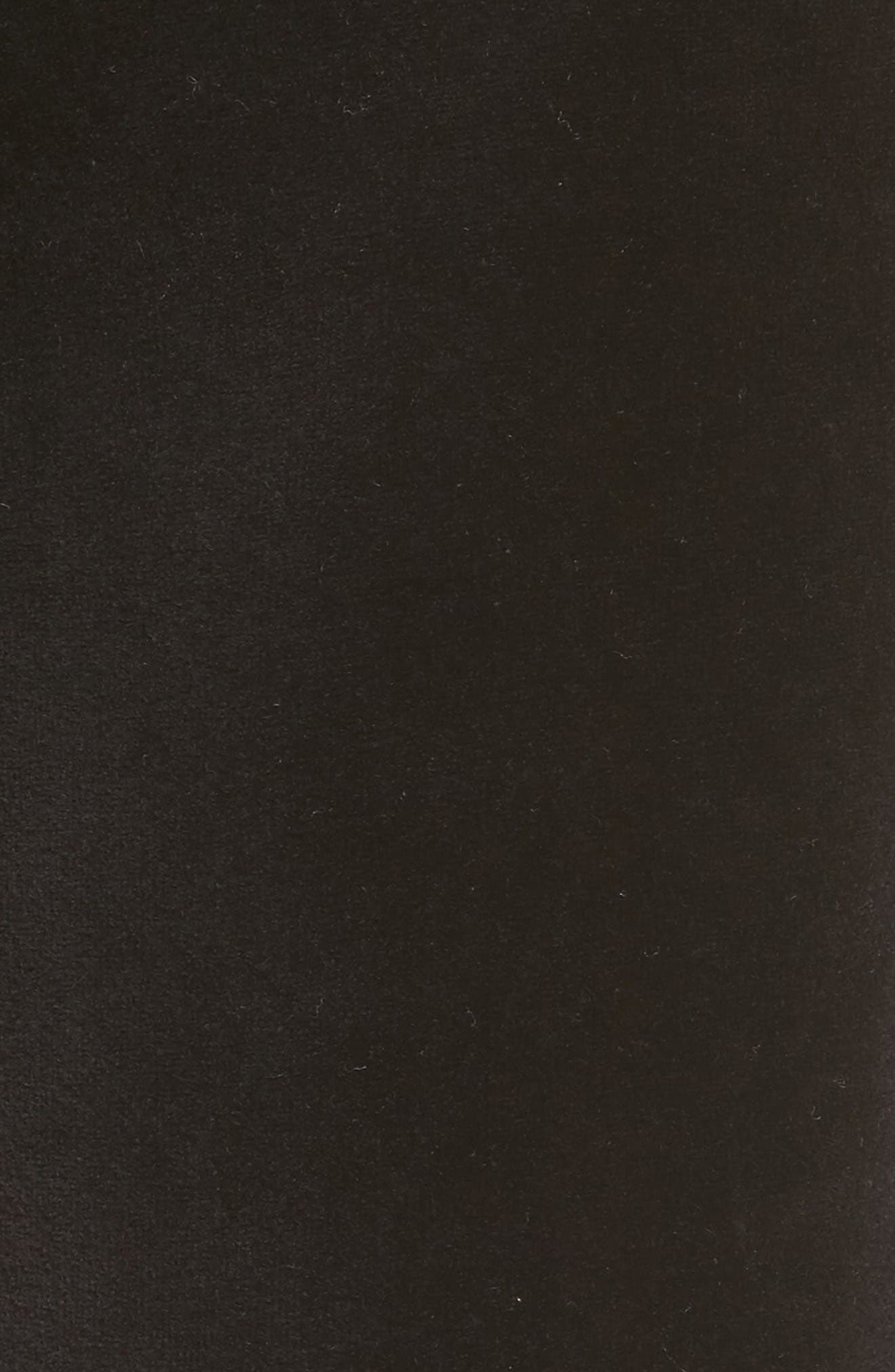 Silverlake Colorblock Velour Track Pants,                             Alternate thumbnail 5, color,                             Pitch Black/ Pink
