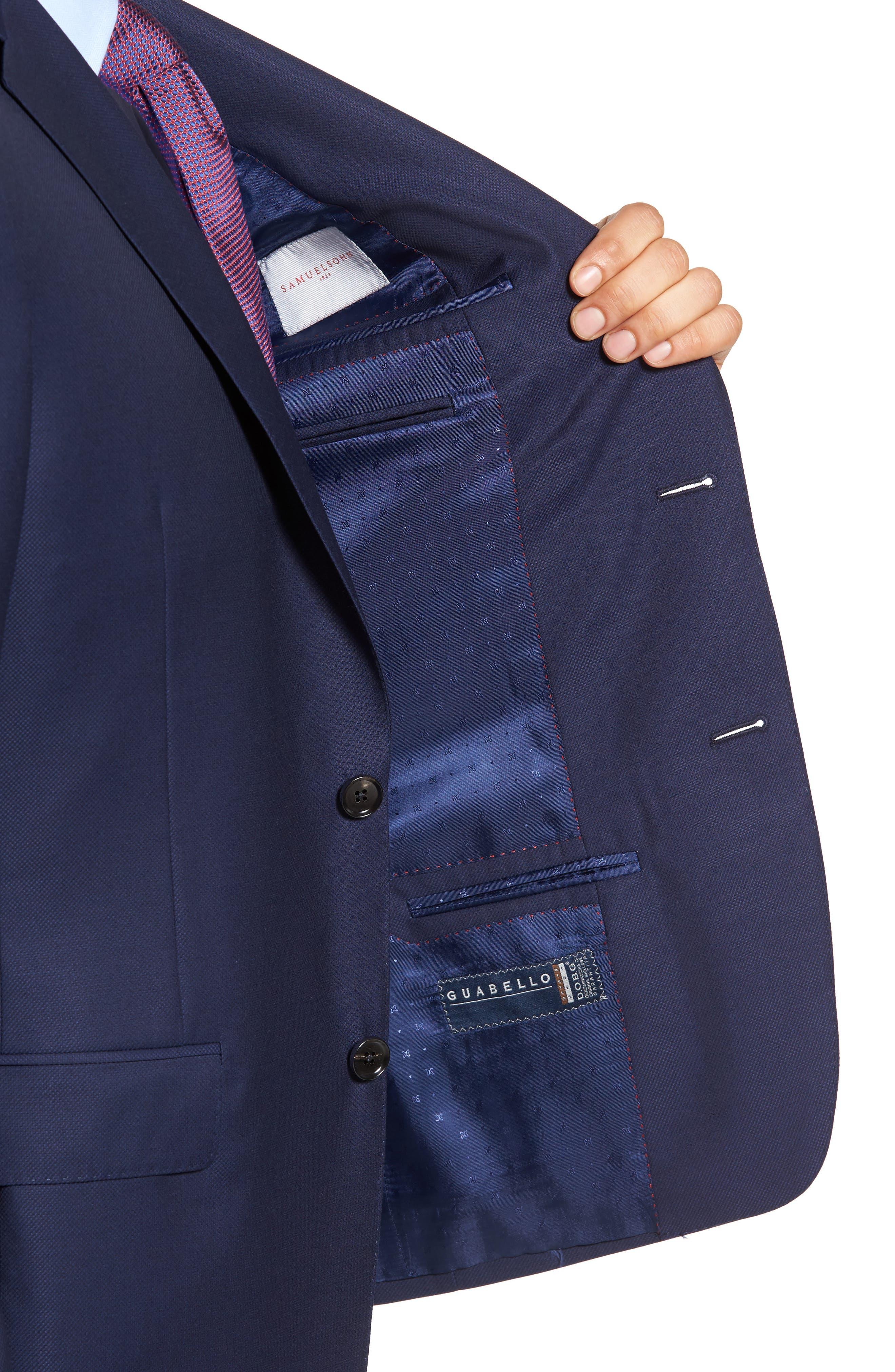 Classic Fit Wool Blazer,                             Alternate thumbnail 4, color,                             Blue