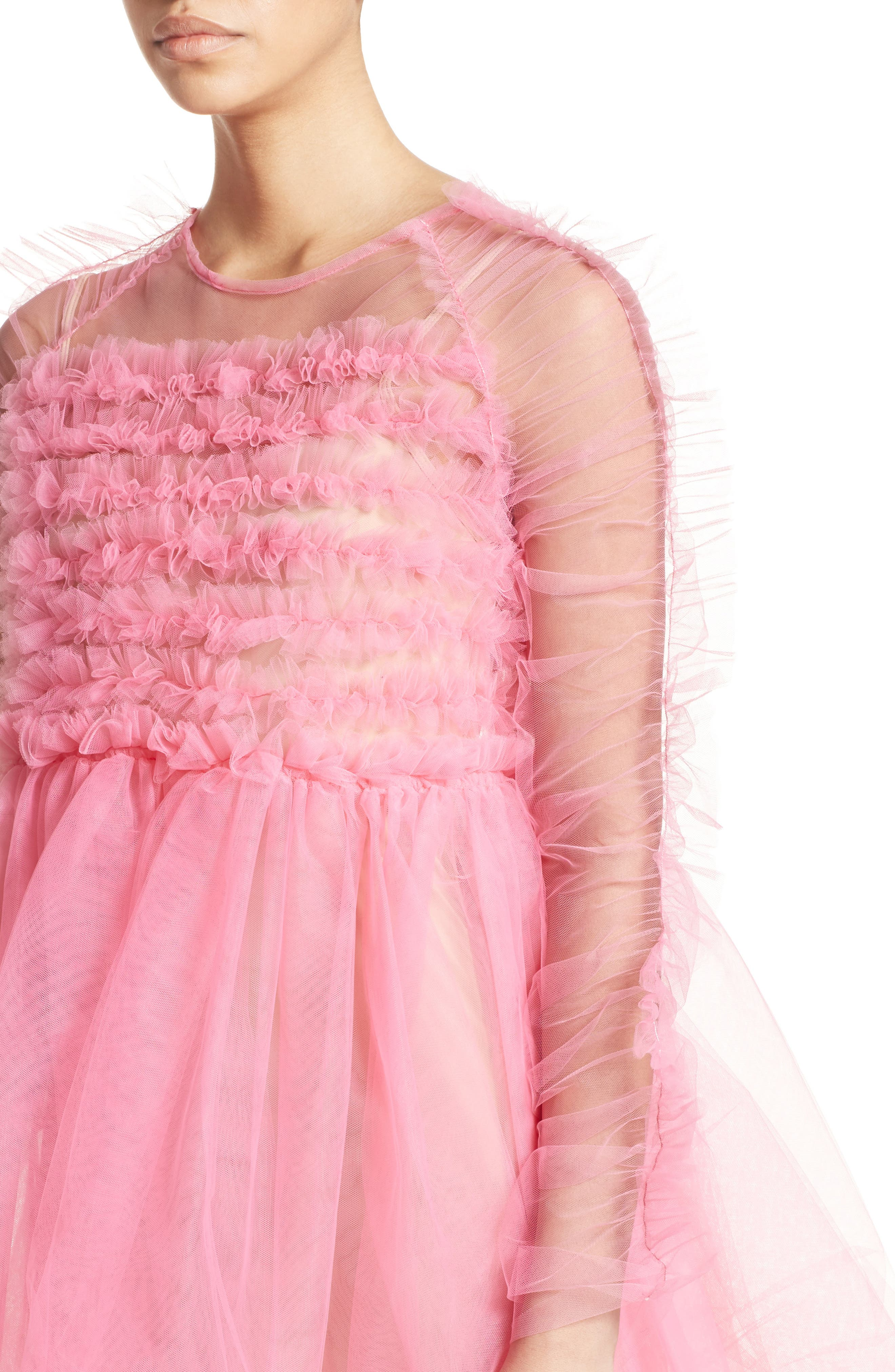 Funky Tulle Dress,                             Alternate thumbnail 6, color,                             Pink