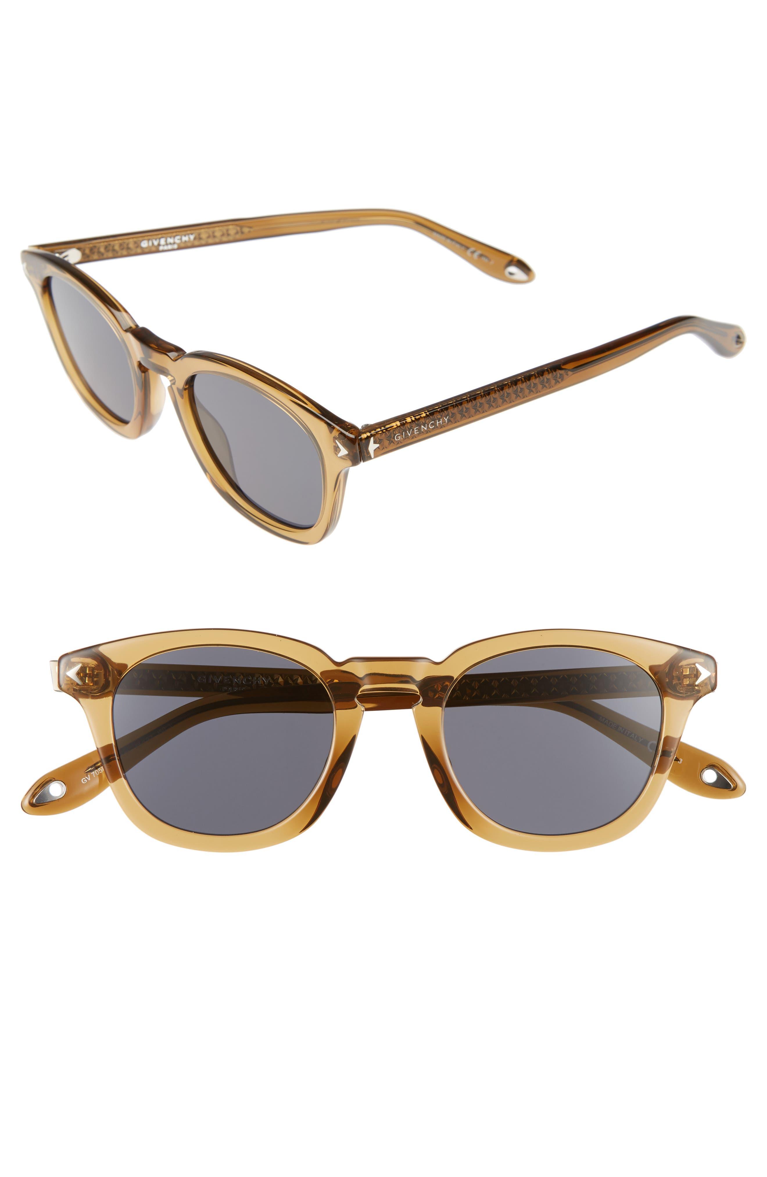 48mm Polarized Sunglasses,                             Main thumbnail 1, color,                             Beige