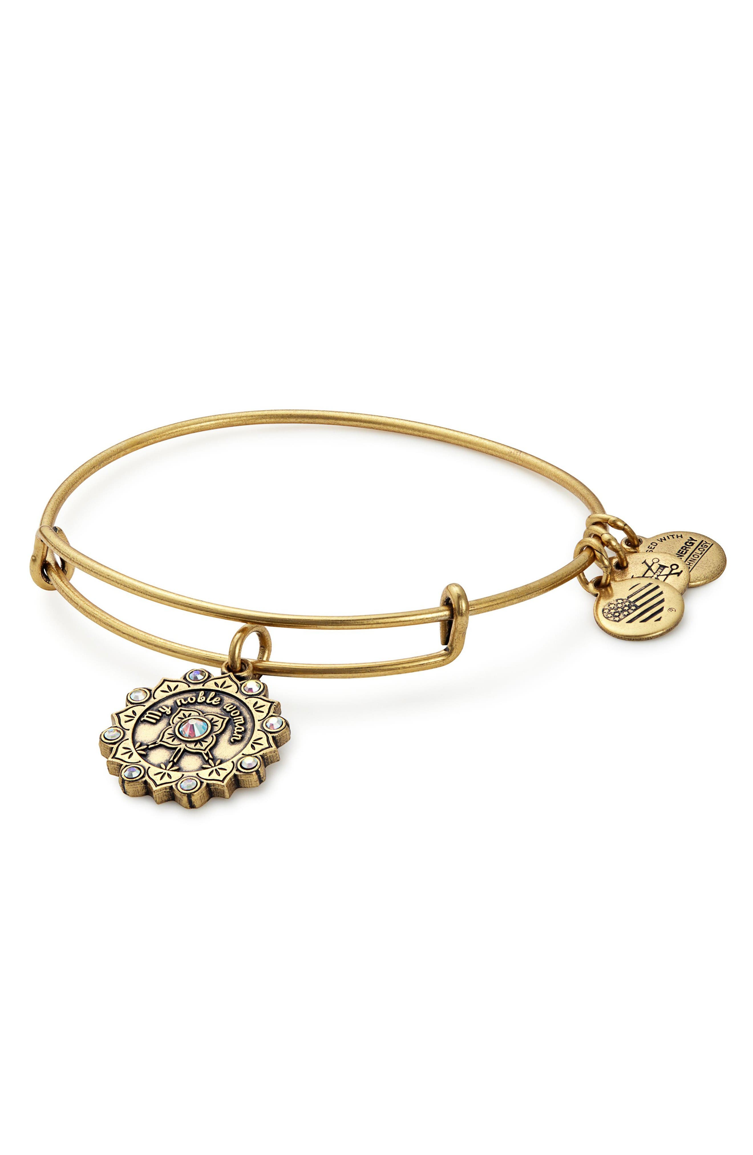 Alternate Image 1 Selected - Alex and Ani Maid of Honor Adjustable Wire Bangle