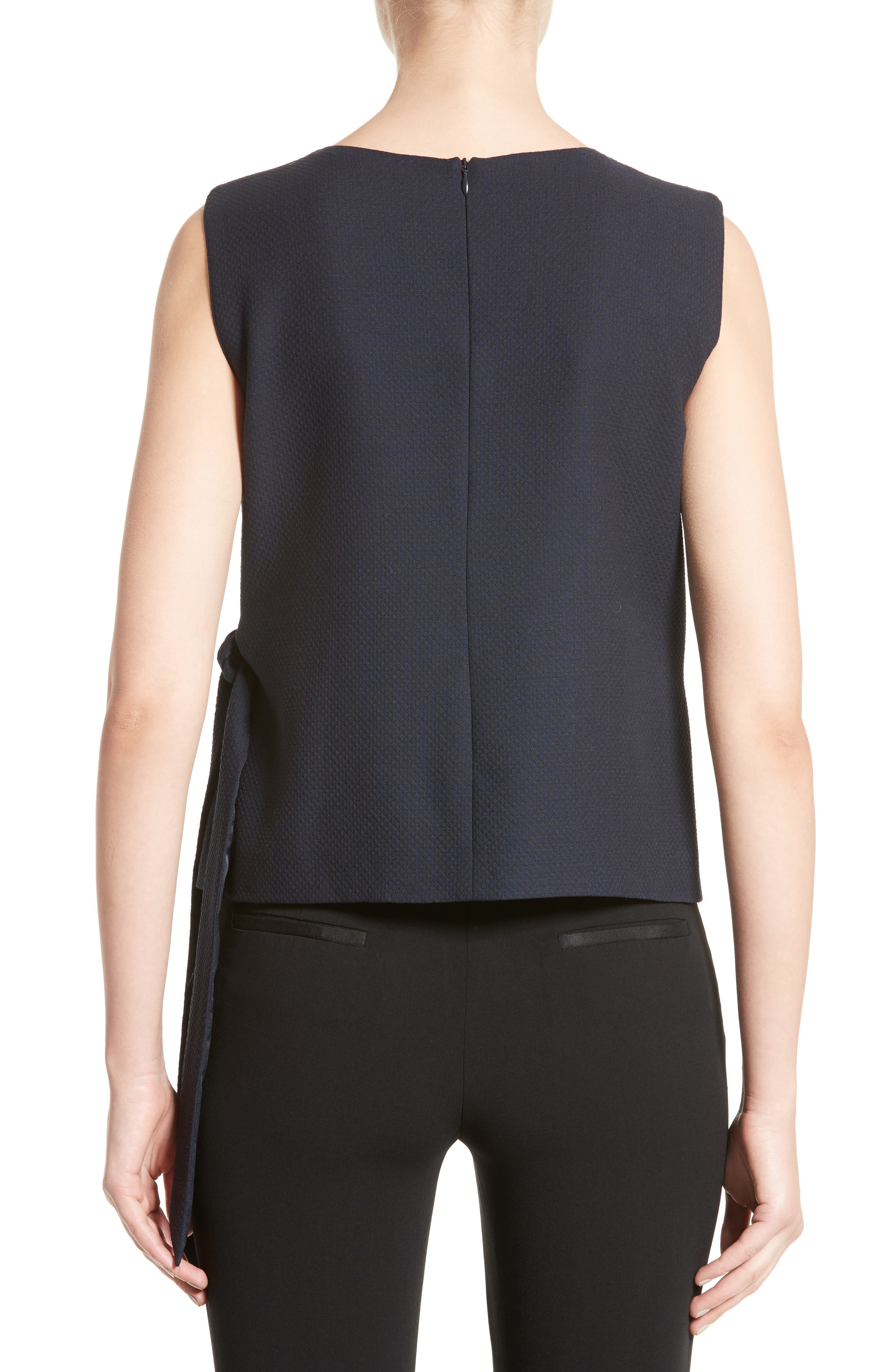 Side Tie Gilet,                             Alternate thumbnail 2, color,                             Midnight