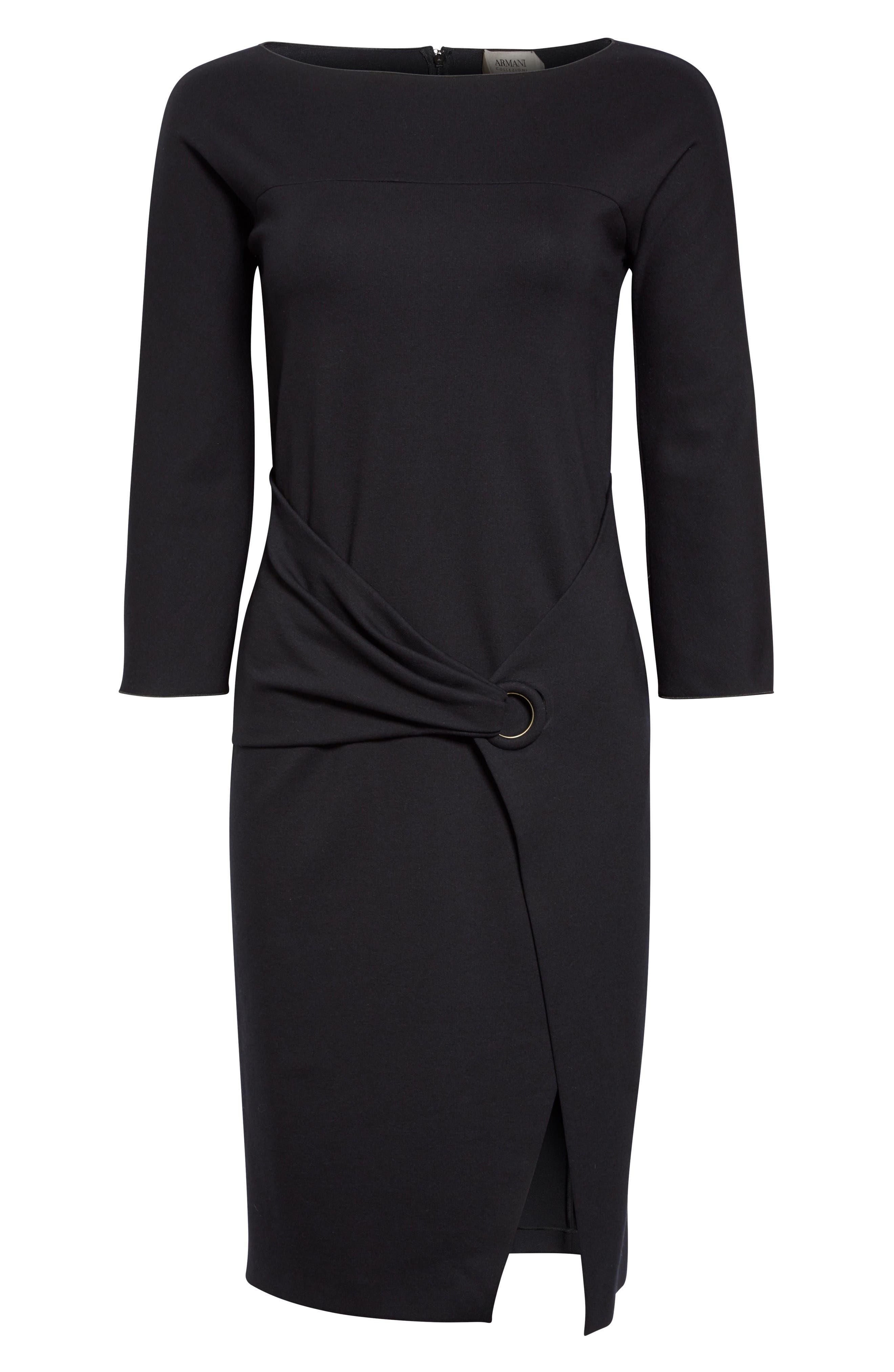Alternate Image 4  - Armani Collezioni Grommet Detail Milano Jersey Dress