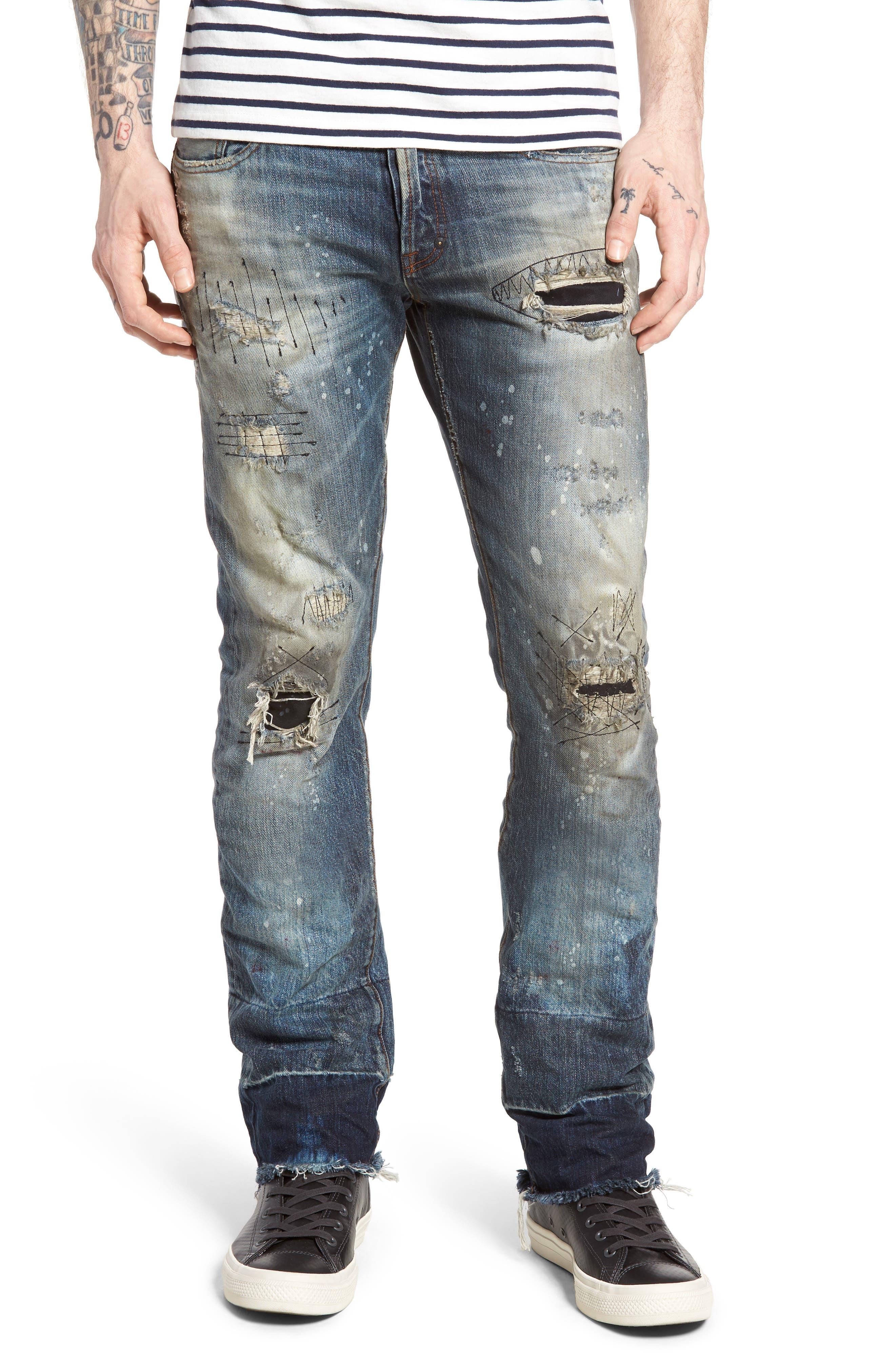Demon Slim Straight Leg Jeans,                         Main,                         color, Indigo