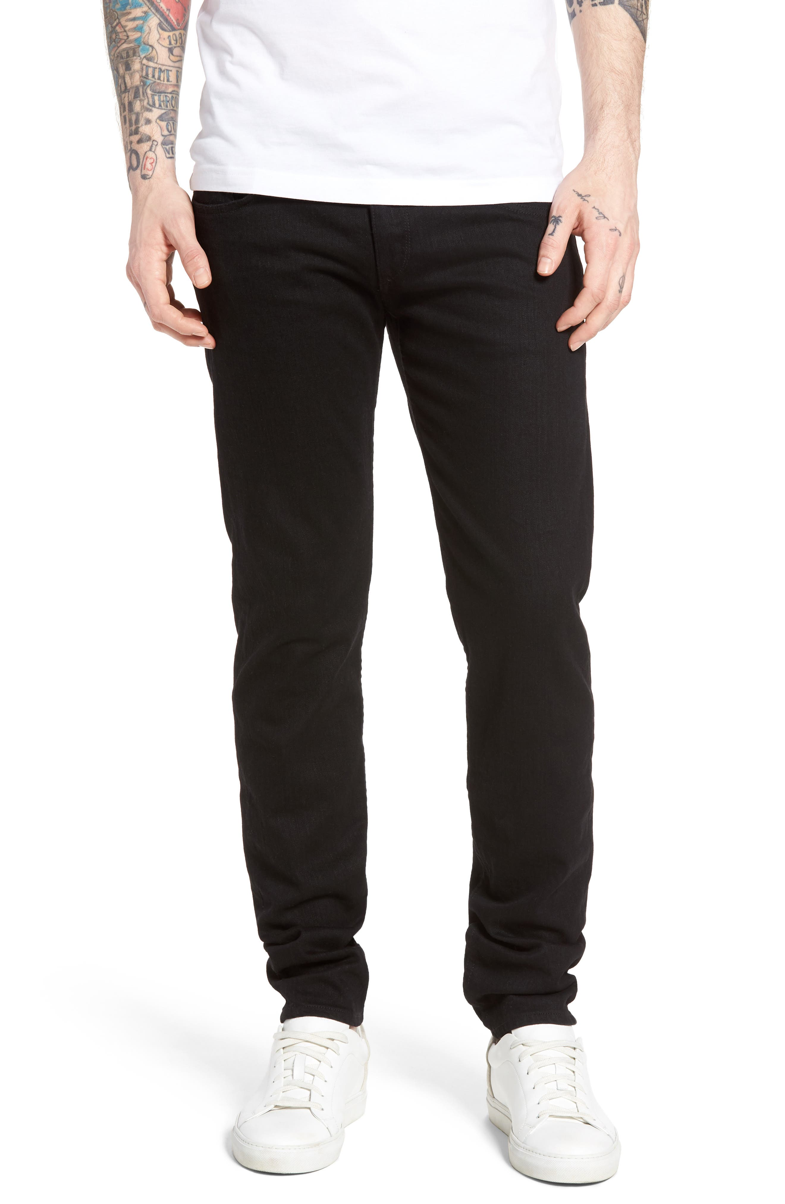Standard Issue Fit 1 Skinny Fit Jeans,                         Main,                         color, Black