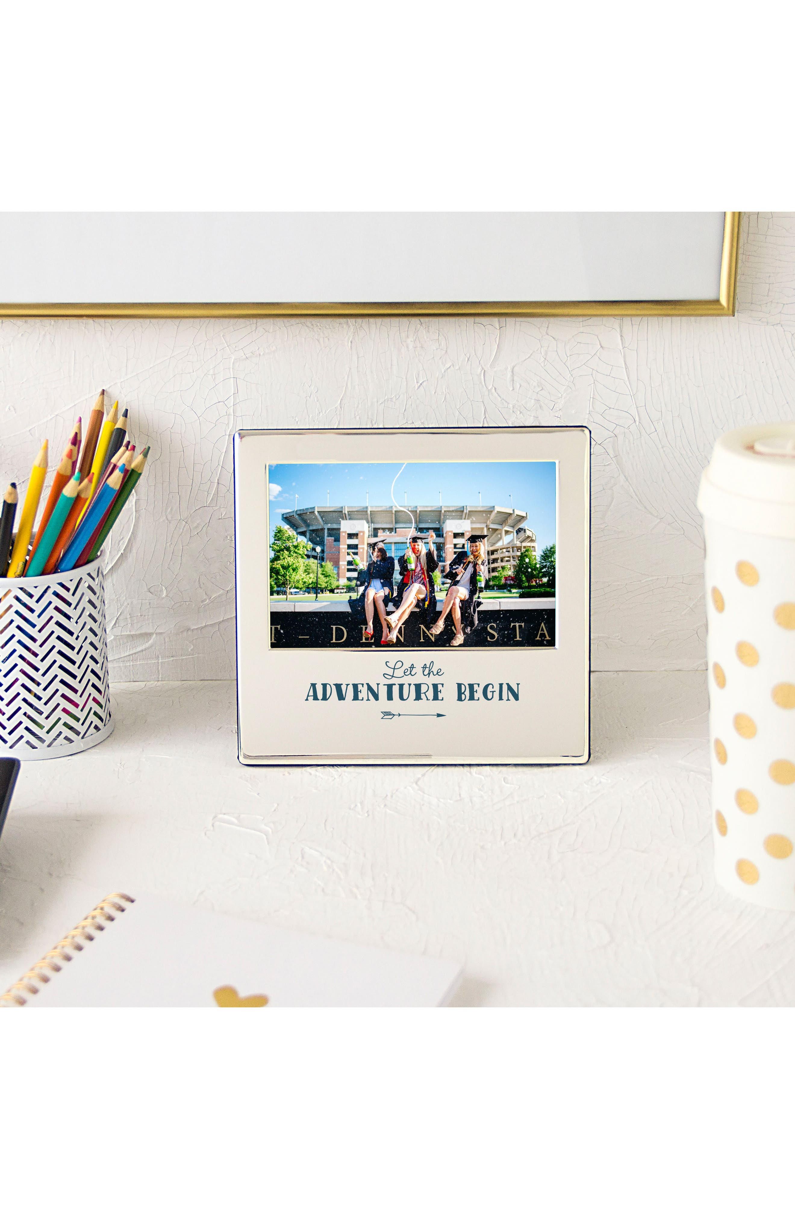 Graduation Silver Picture Frame,                             Alternate thumbnail 5, color,                             Metallic Silver
