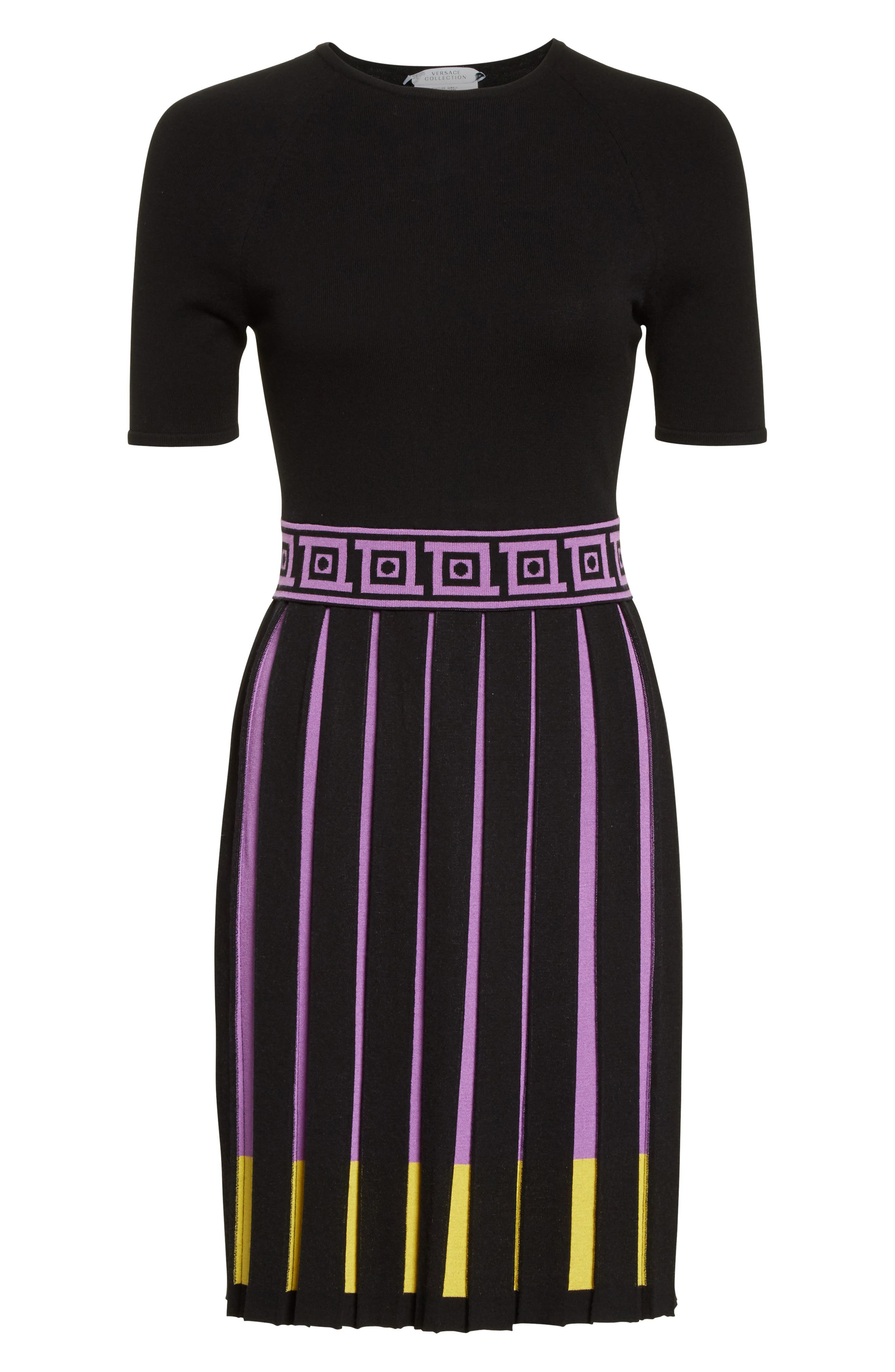 Alternate Image 4  - Versace Collection Knit Fit & Flare Dress
