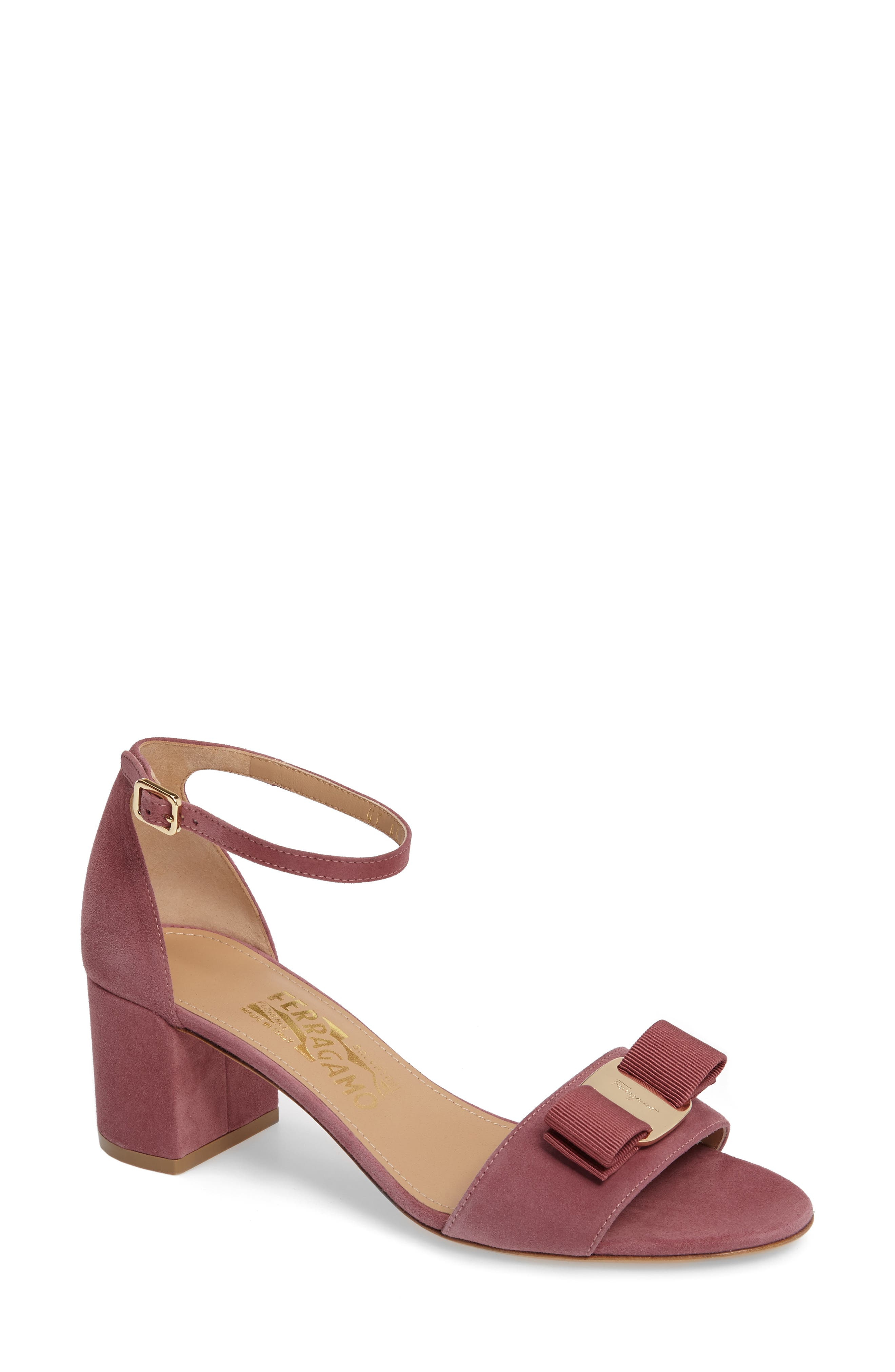 Salvatore Ferragamo Block Heel Bow Sandal (Women)