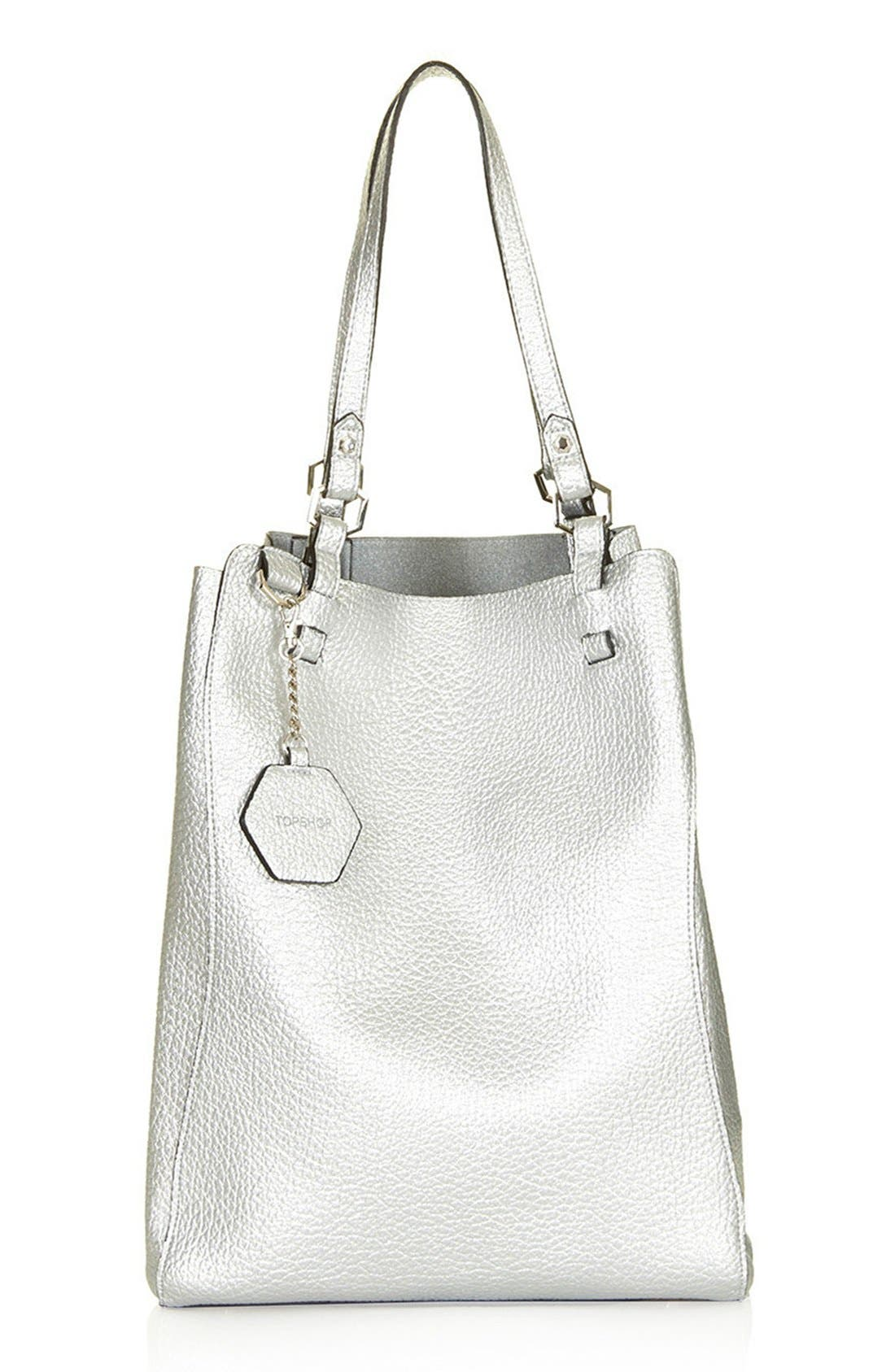 Main Image - Topshop 'Hex' Faux Leather Tote