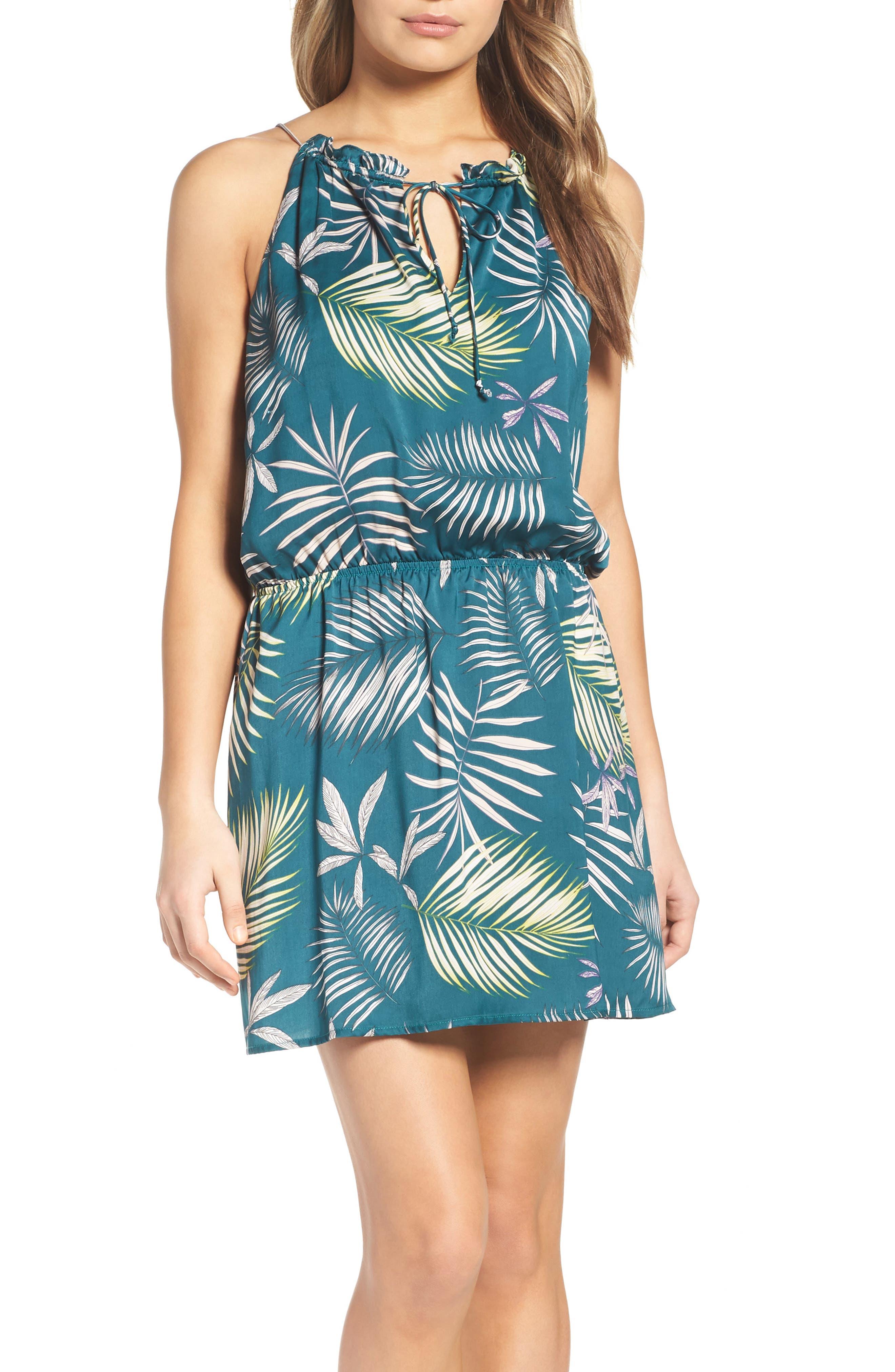 BB Dakota Brooks Amazon Print Blouson Dress