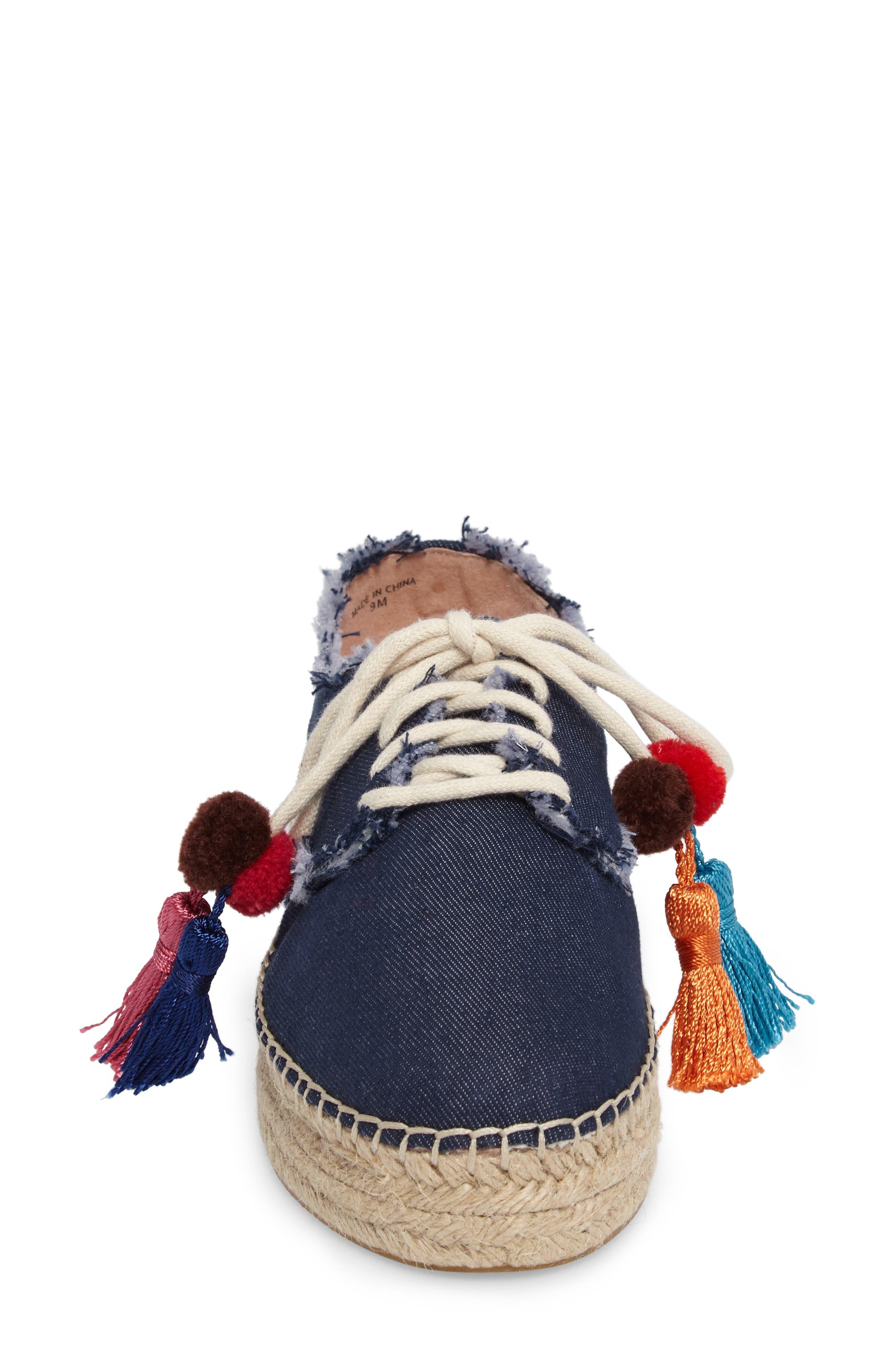 lane espadrille platform sneaker,                             Alternate thumbnail 4, color,                             Blue Jeans
