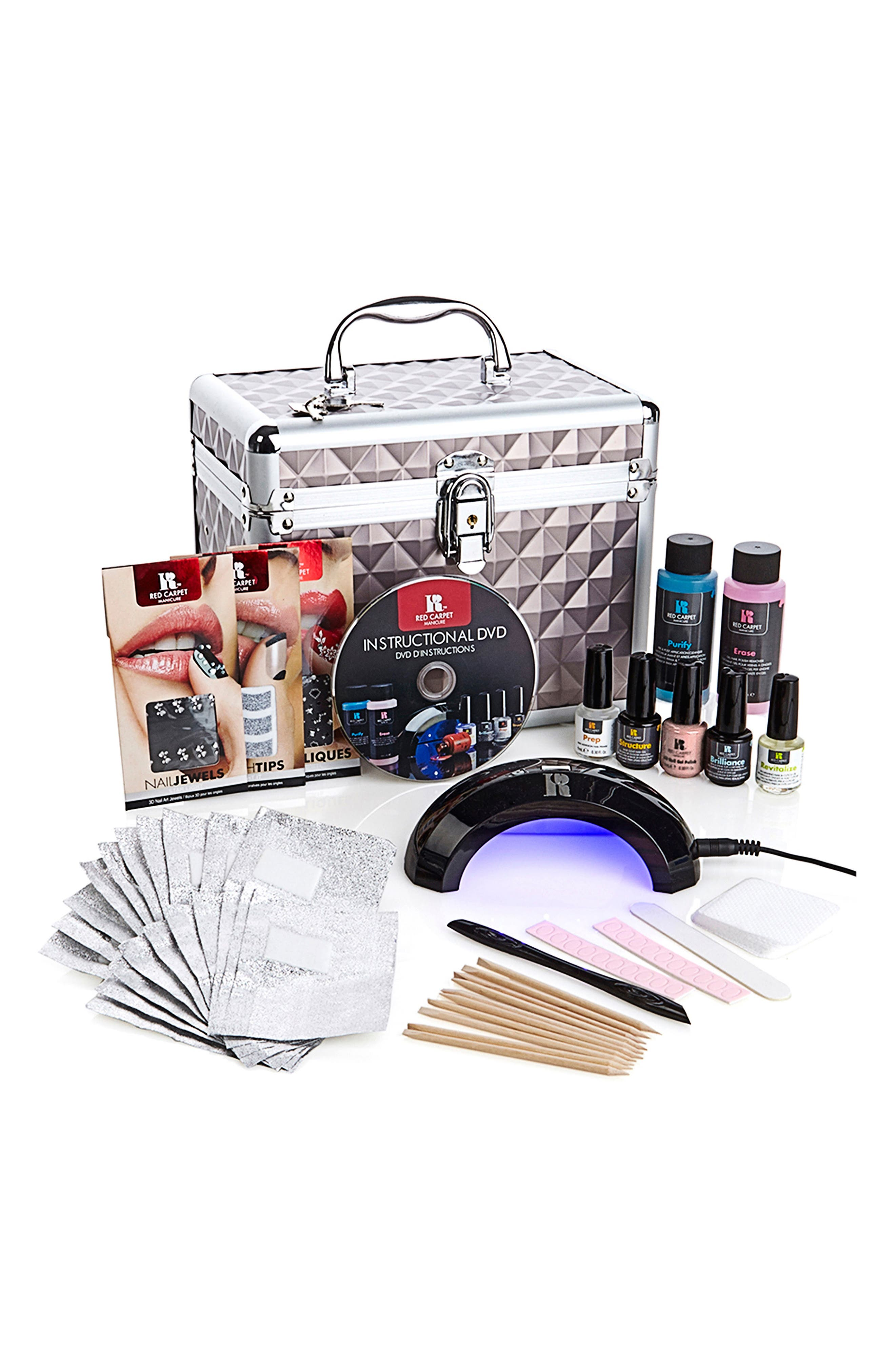 Alternate Image 1 Selected - Red Carpet Manicure Train Case