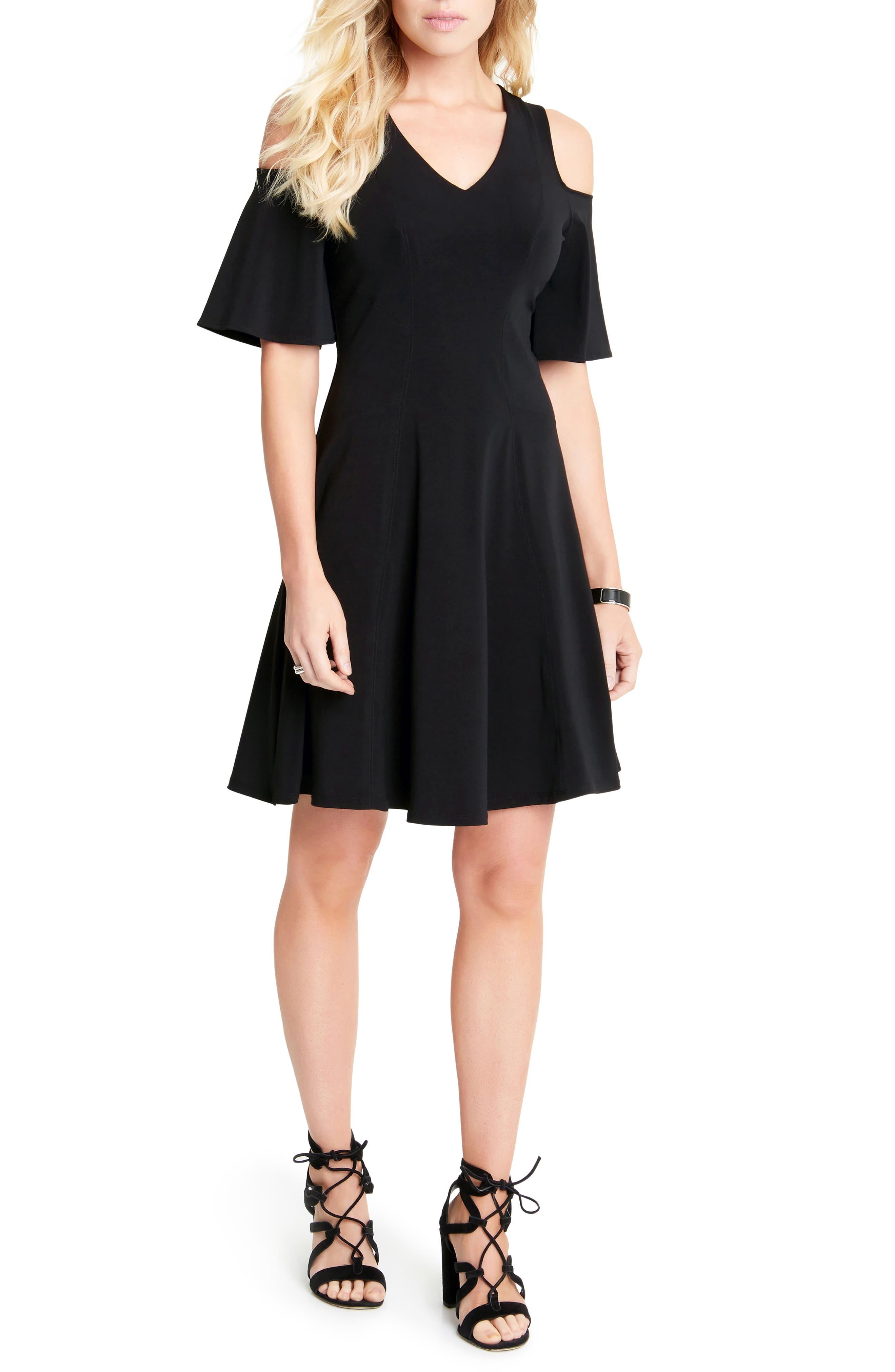 Cold Shoulder Travel Dress,                         Main,                         color, Black