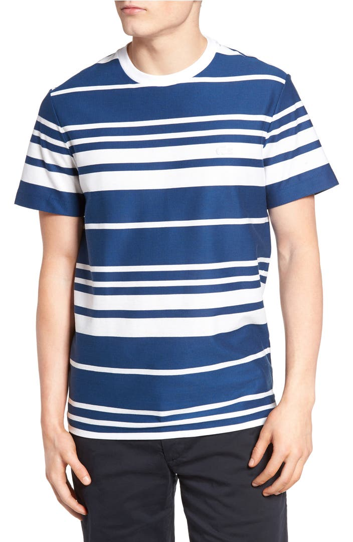 lacoste stripe t shirt nordstrom. Black Bedroom Furniture Sets. Home Design Ideas