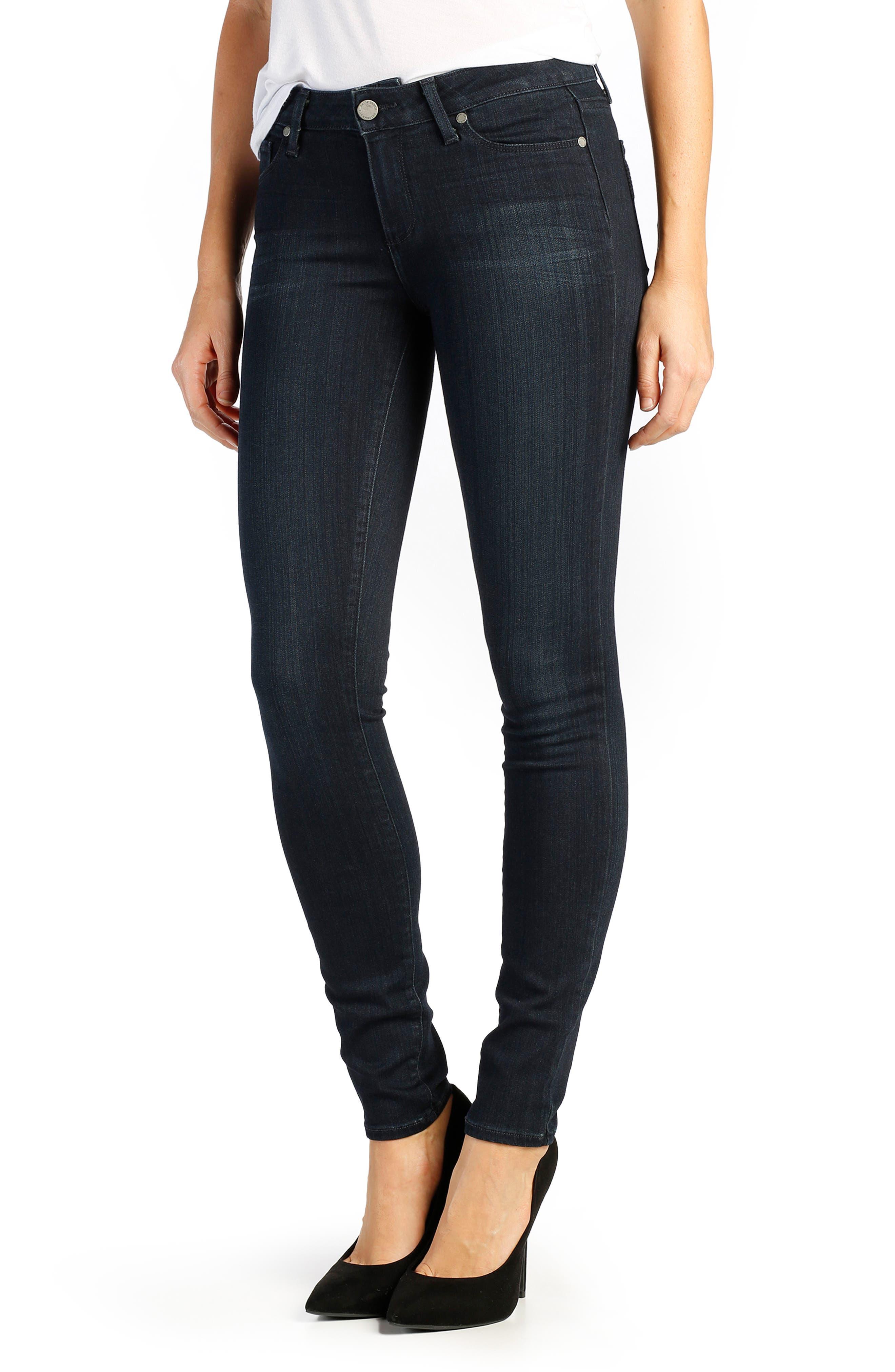 PAIGE Transcend - Verdugo Ultra Skinny Jeans (Total Mona)