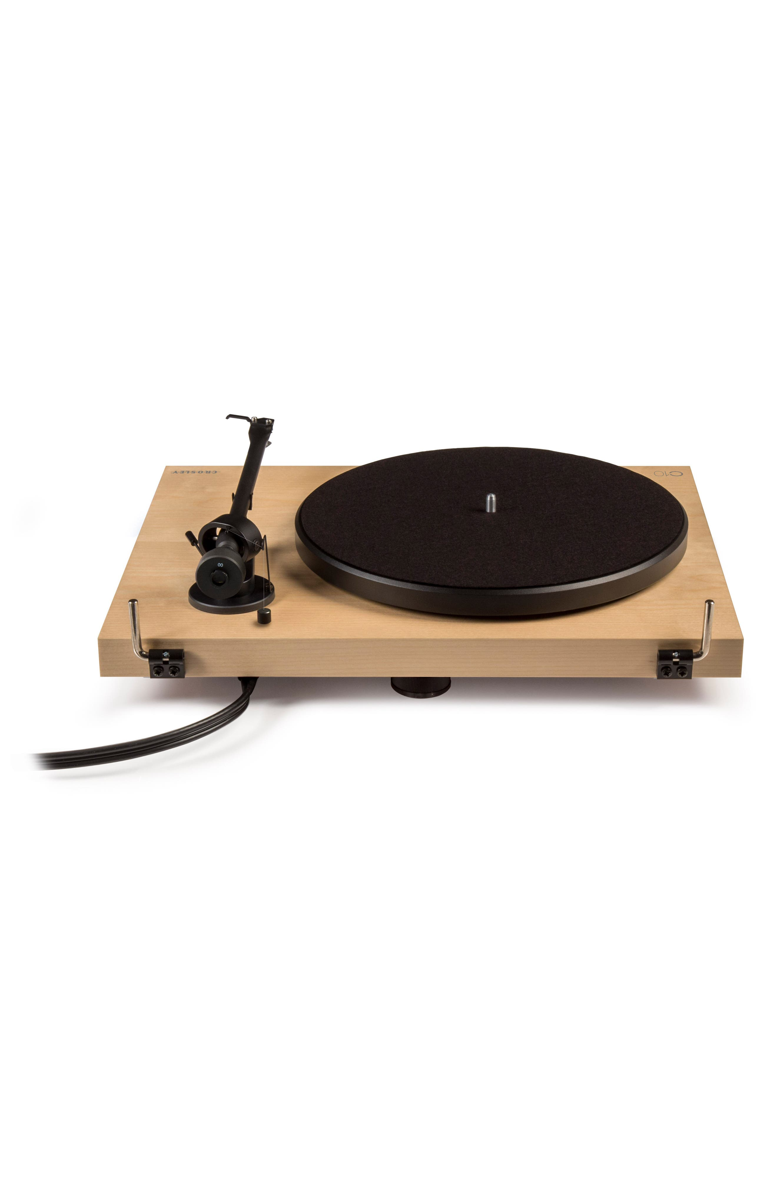 C10 Two-Speed Manual Turntable,                             Alternate thumbnail 5, color,                             Natural