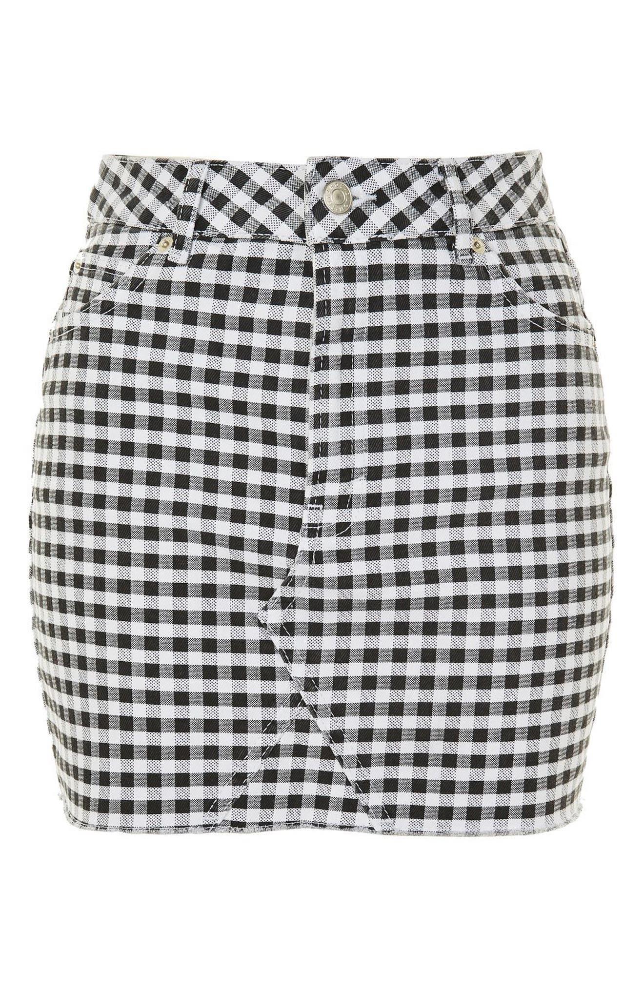 Alternate Image 4  - Topshop Gingham Miniskirt
