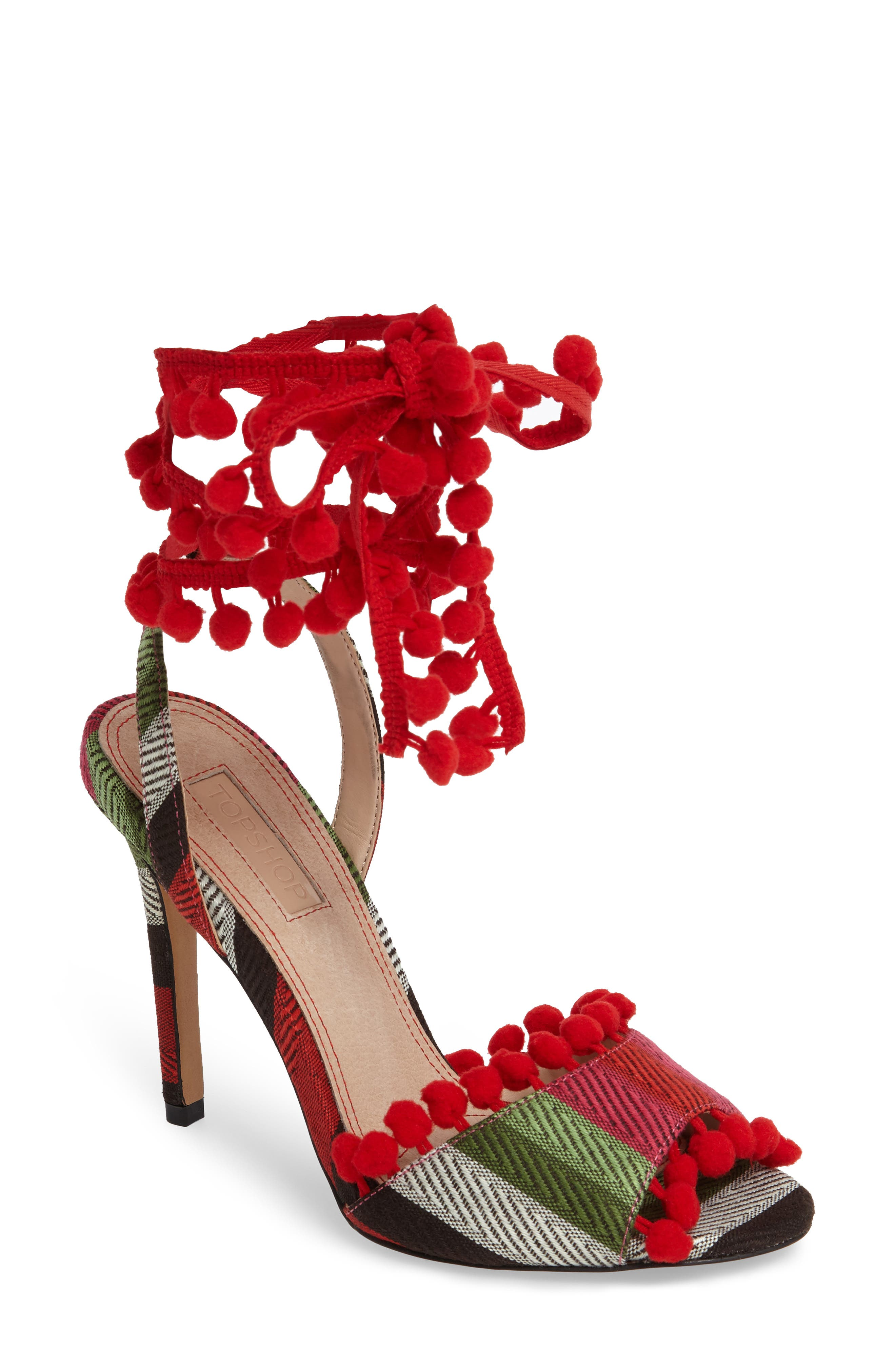 Alternate Image 1 Selected - Topshop Rom Pom Pom Sandals (Women)