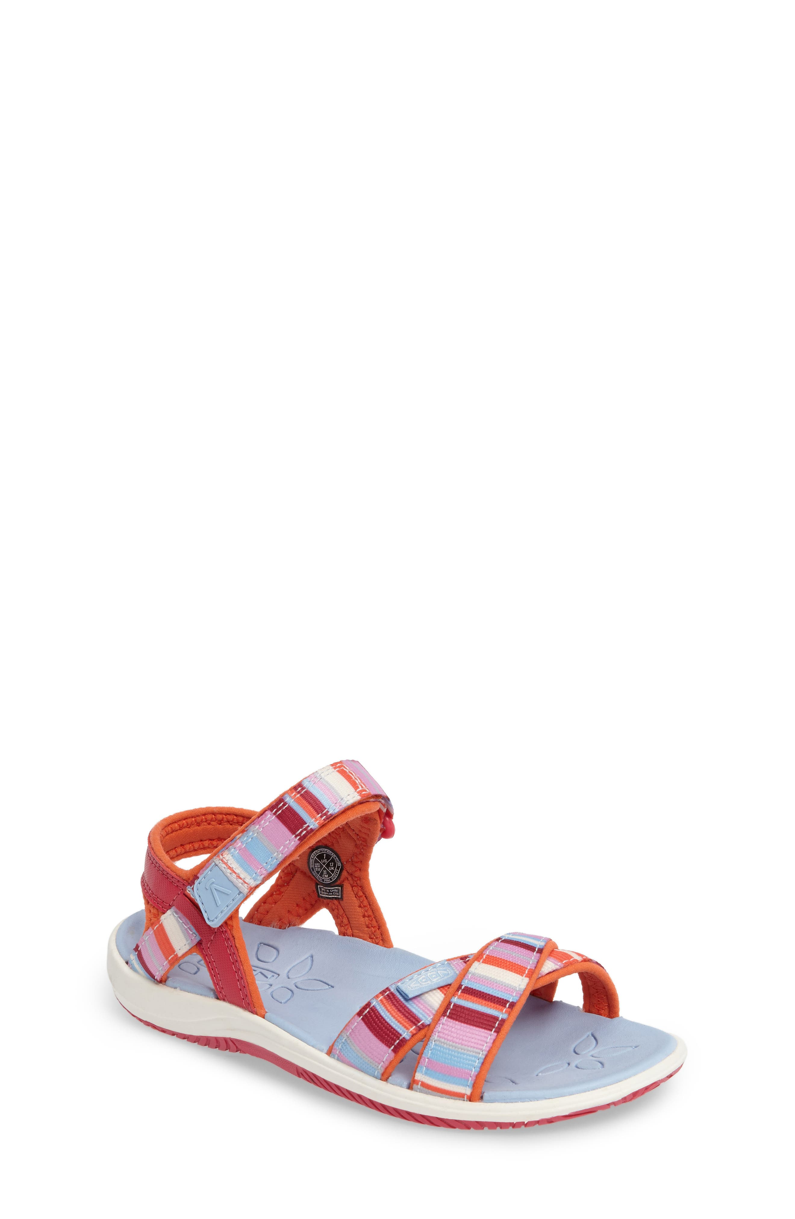 'Phoebe' Sandal,                             Main thumbnail 1, color,                             Bright Rose Raya