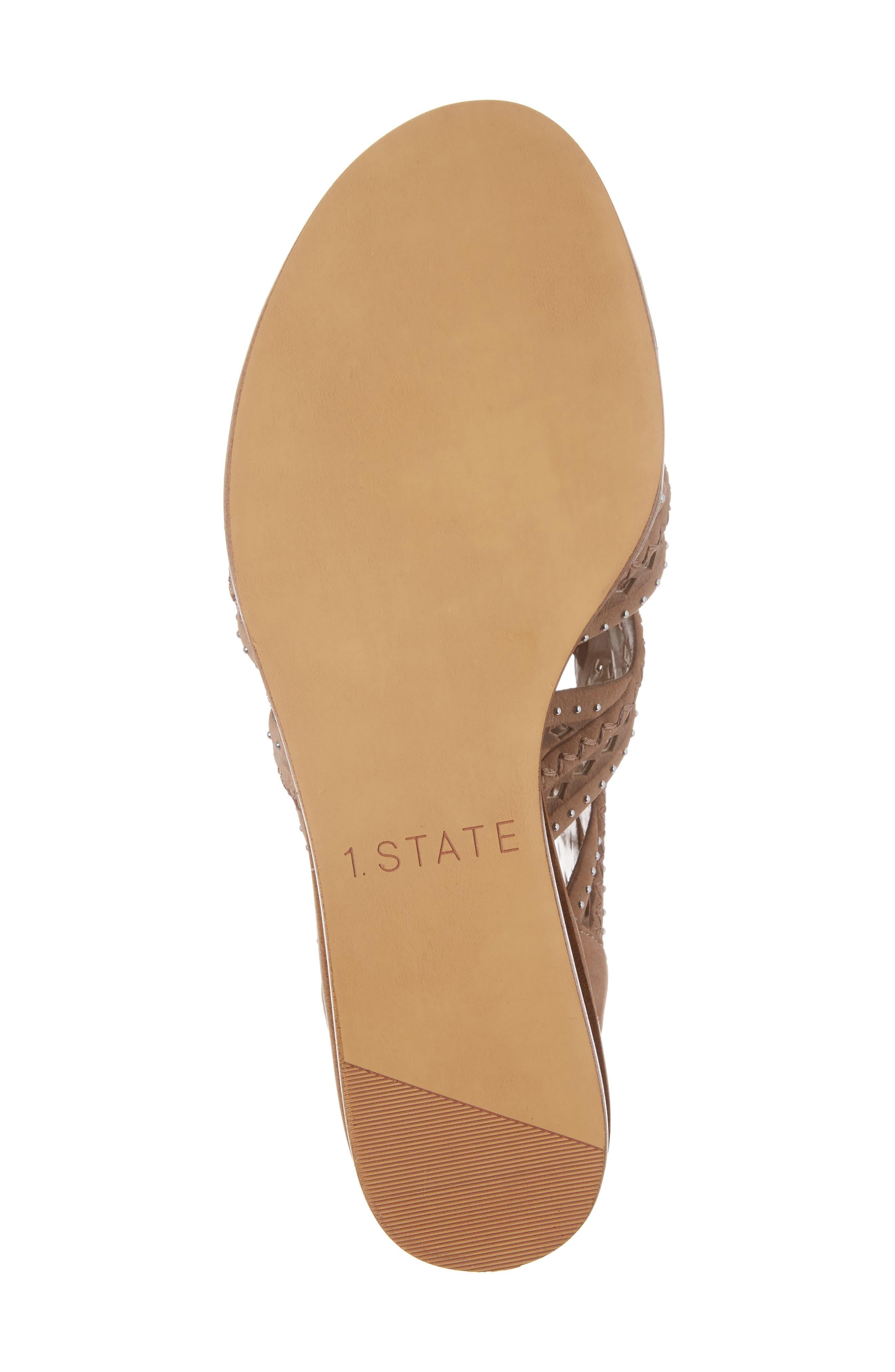 Alternate Image 6  - 1.STATE Maygan Ghillie Wedge Sandal (Women)