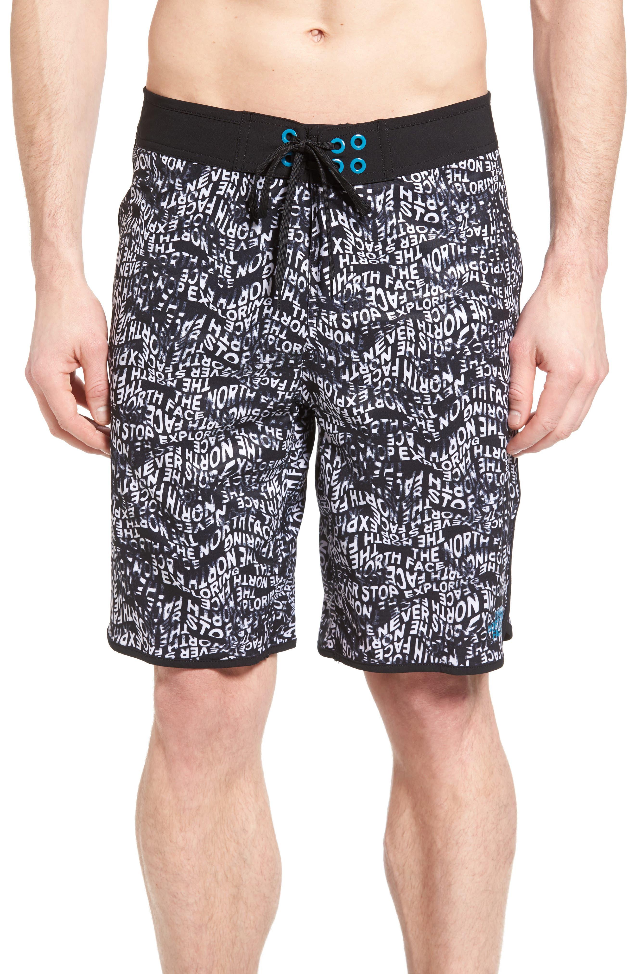The North Face 'Whitecap' Scalloped Hem FlashDry™ Board Shorts
