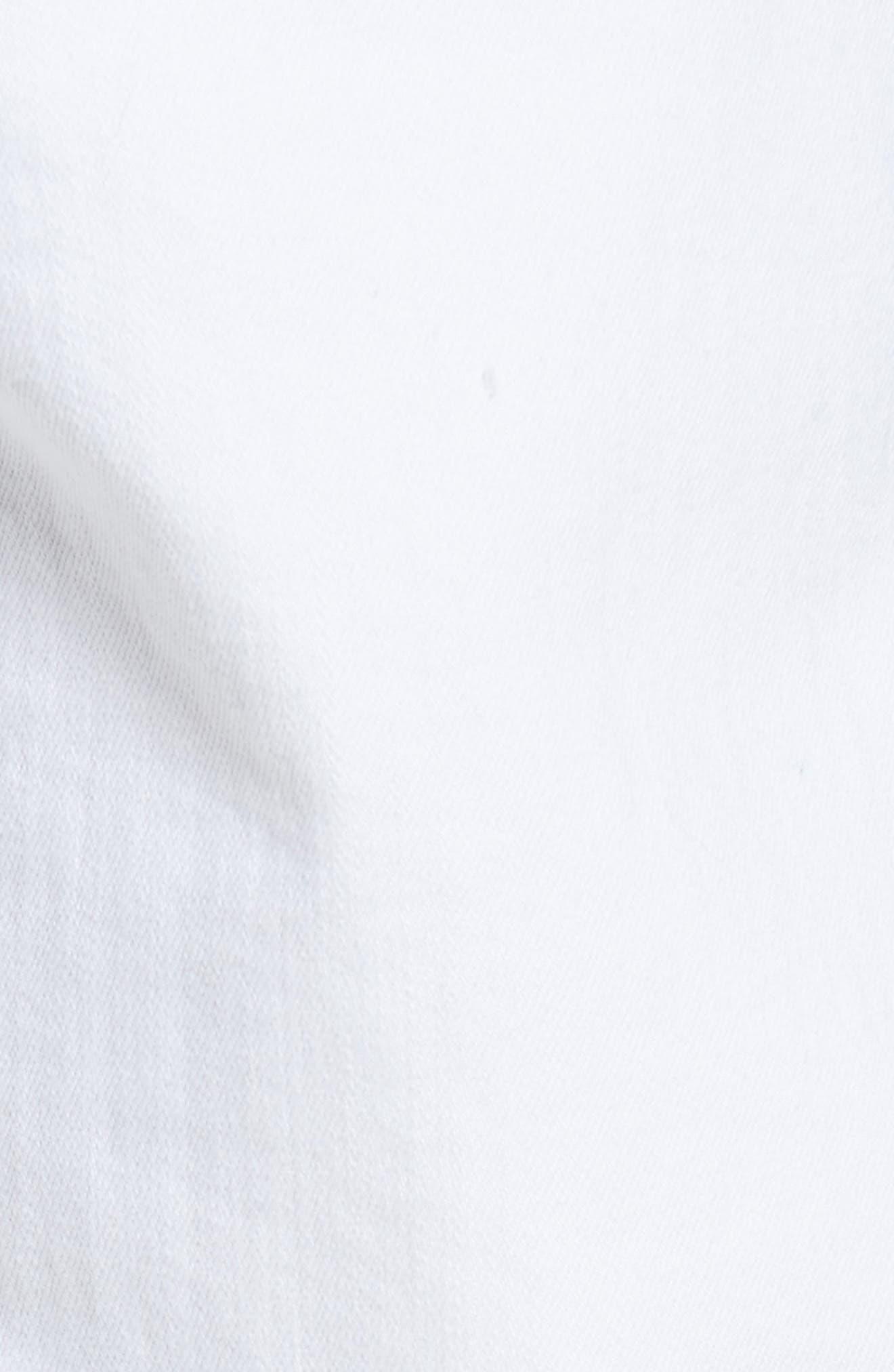 Alternate Image 5  - AG Tellis Slim Fit Jeans (Ragged White)