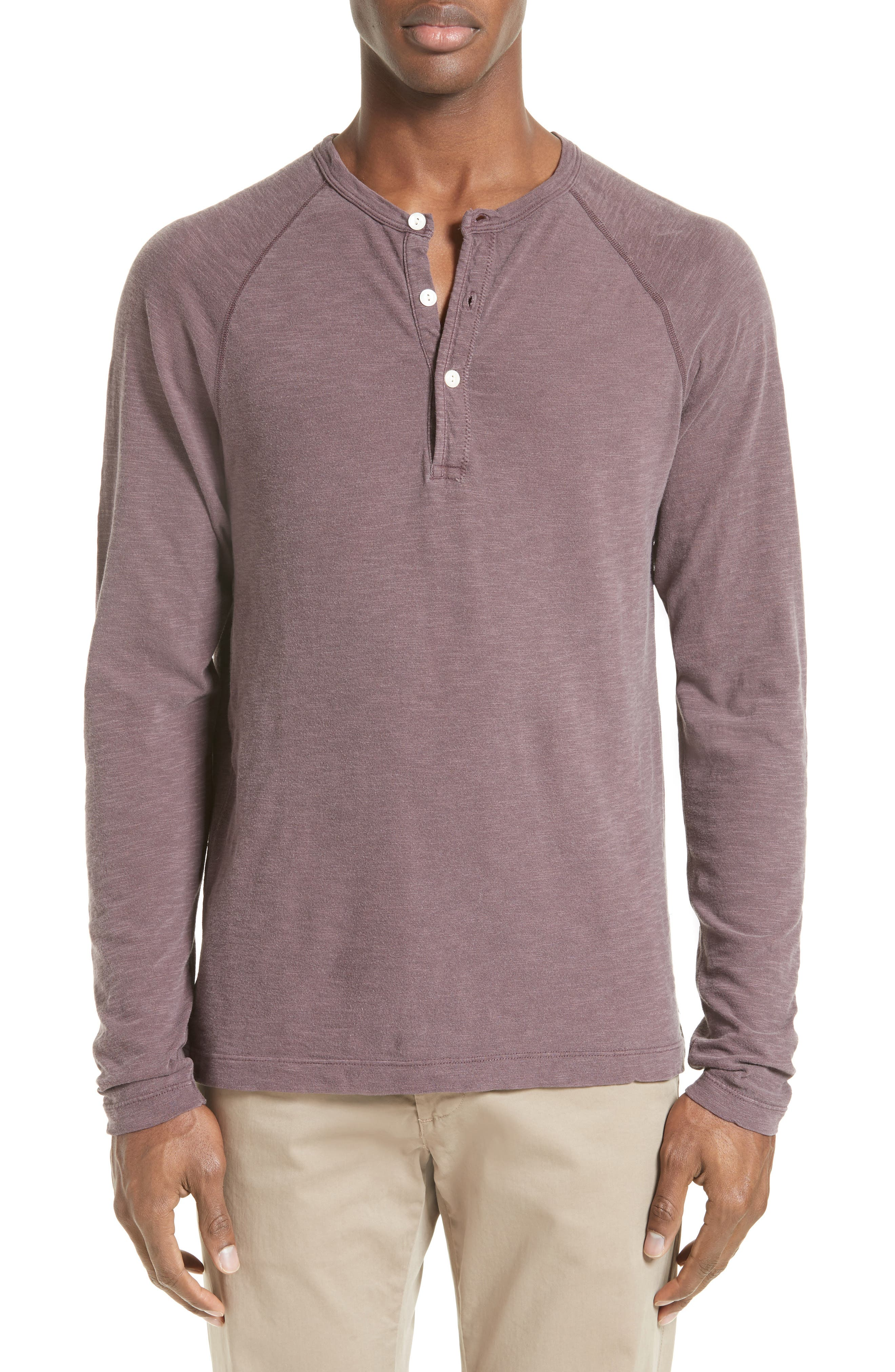 Todd Snyder Long Sleeve Cotton Jersey Henley