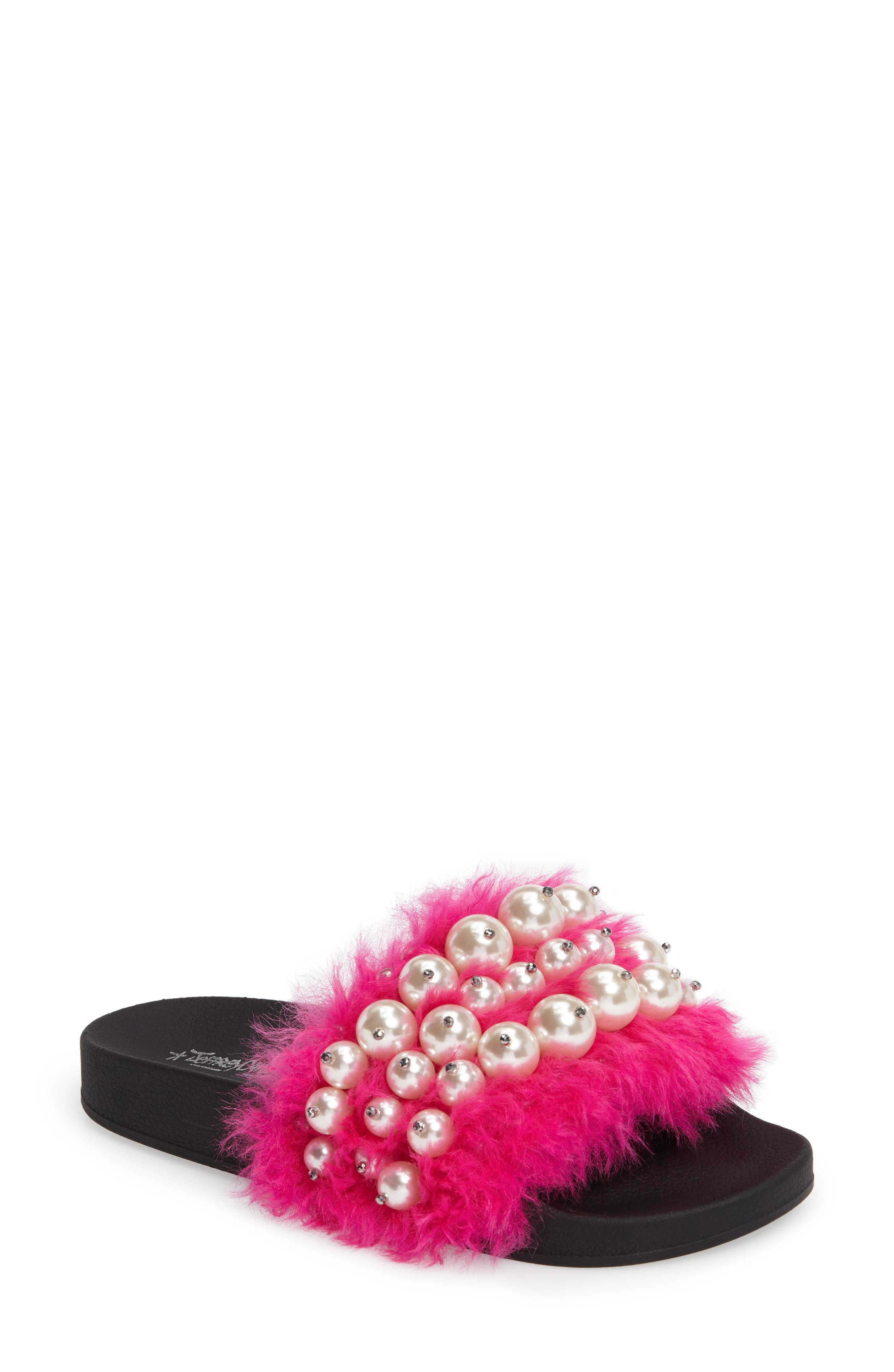 Alternate Image 1 Selected - Jeffrey Campbell Jova Embellished Slide (Women)