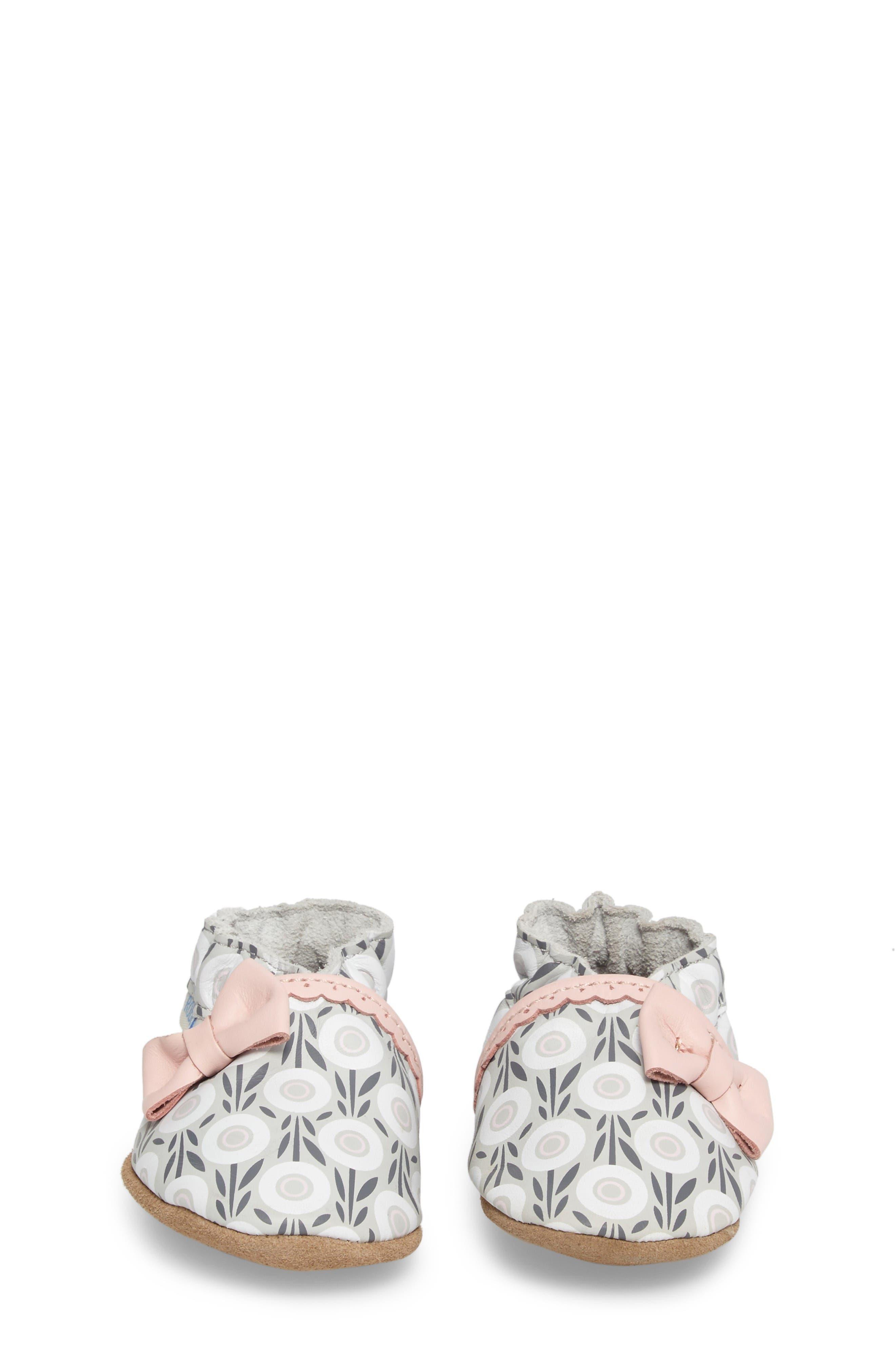 Alternate Image 4  - Robeez® Wildflowers Crib Shoe (Baby & Walker)