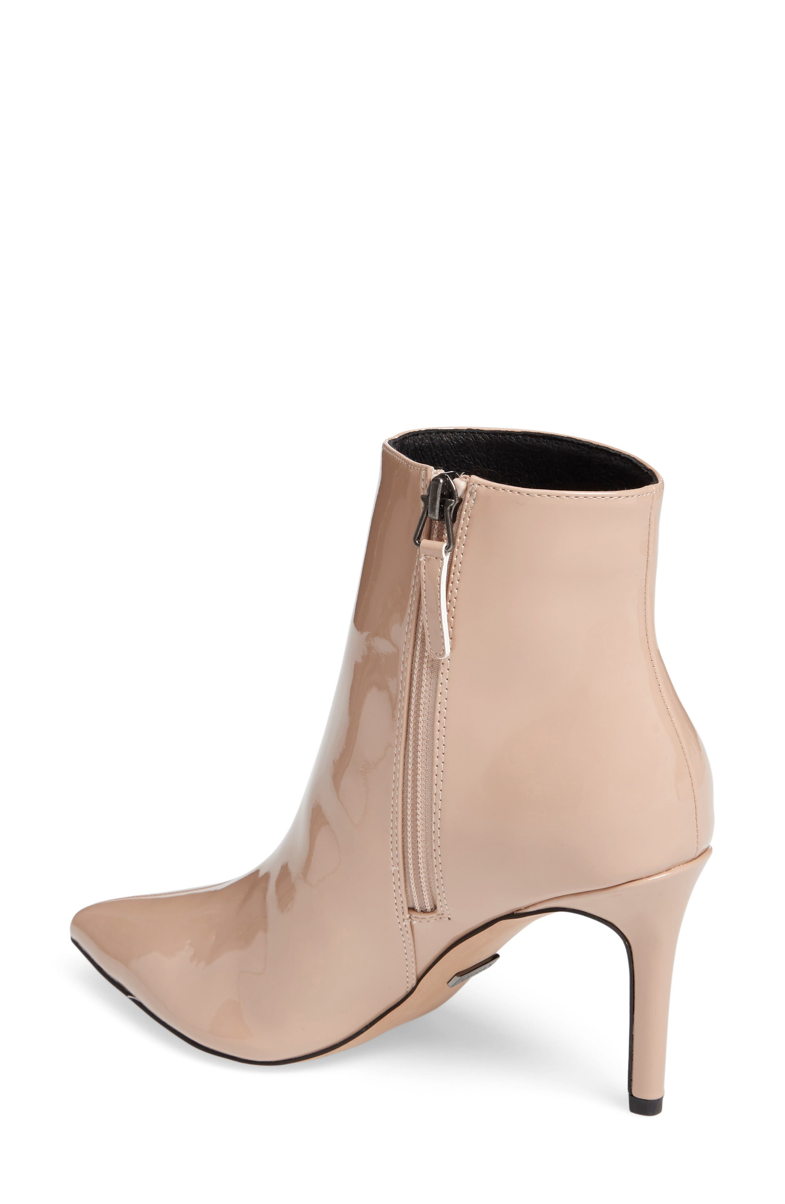 Mimosa Pointy Toe Bootie,                             Alternate thumbnail 2, color,                             Nude