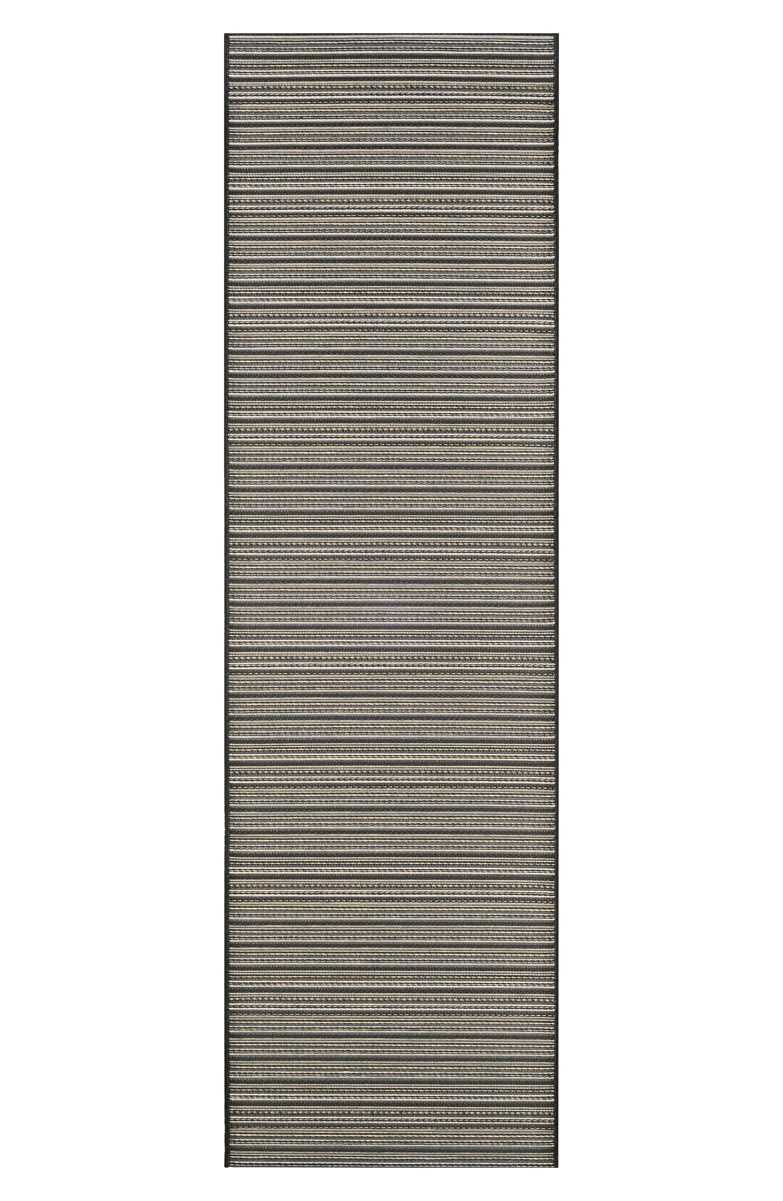 Harwich Indoor/Outdoor Rug,                             Alternate thumbnail 2, color,                             Black/ Tan
