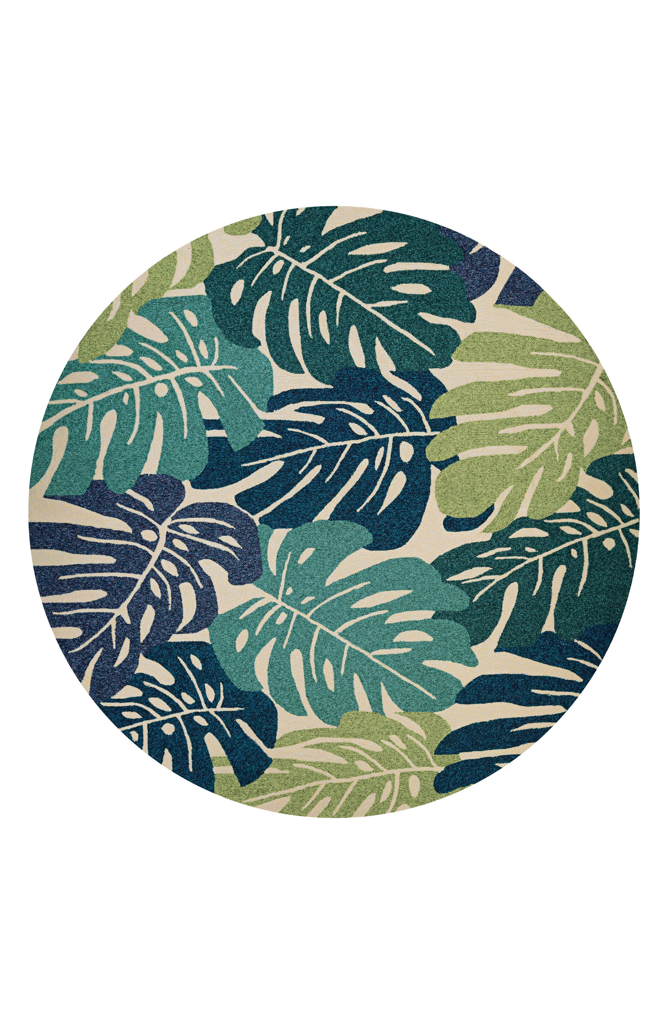 Monstera Indoor/Outdoor Rug,                             Alternate thumbnail 2, color,                             Blue/ Green