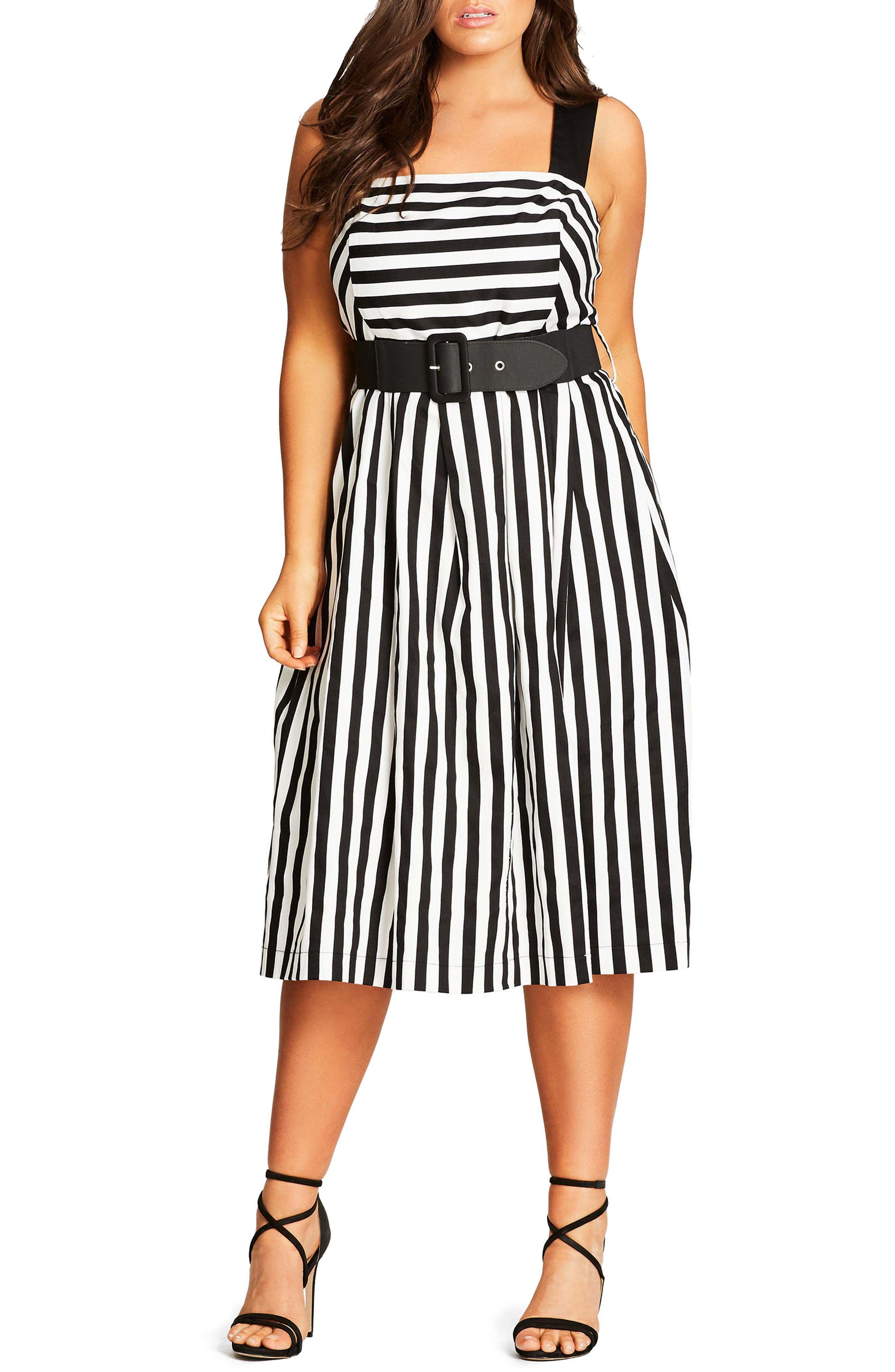 Alternate Image 1 Selected - City Chic So Fab Stripe Sundress (Plus Size)