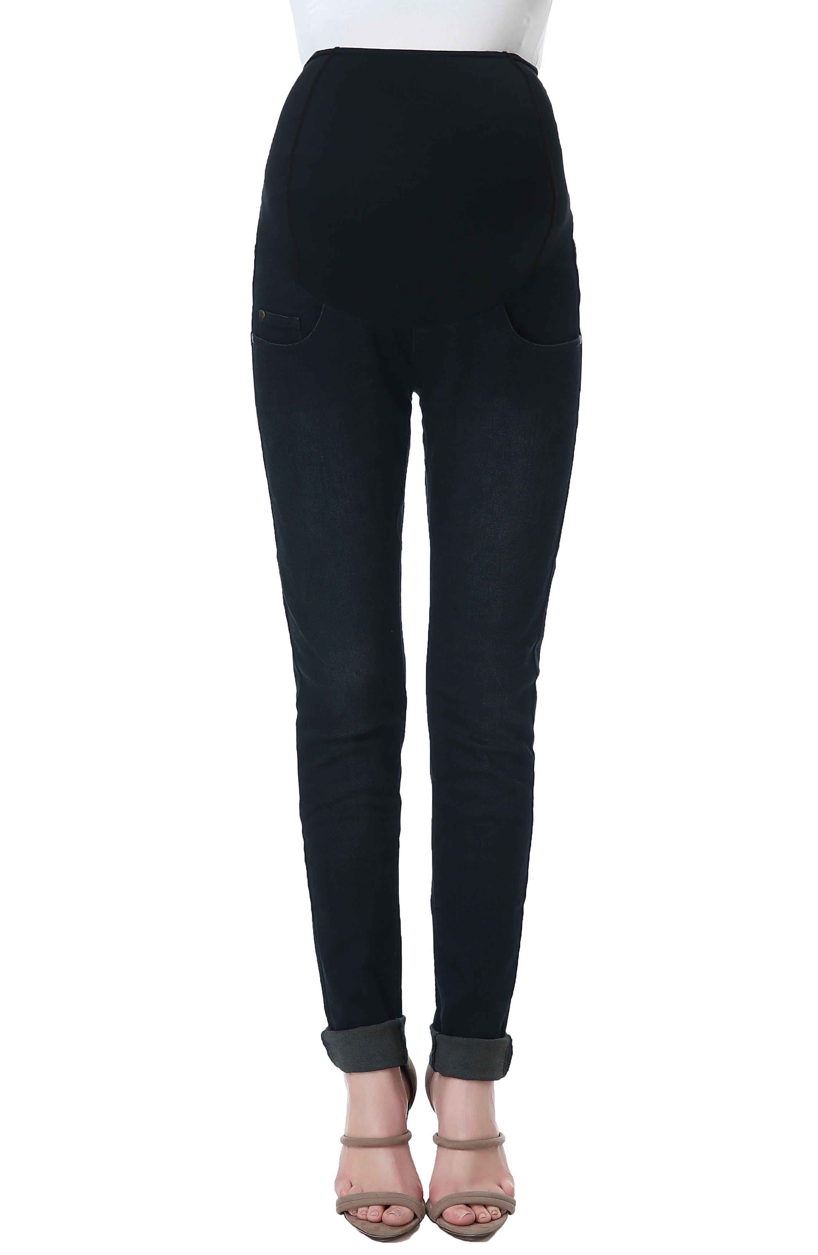 Rae Maternity Skinny Jeans,                         Main,                         color, Black/ Blue