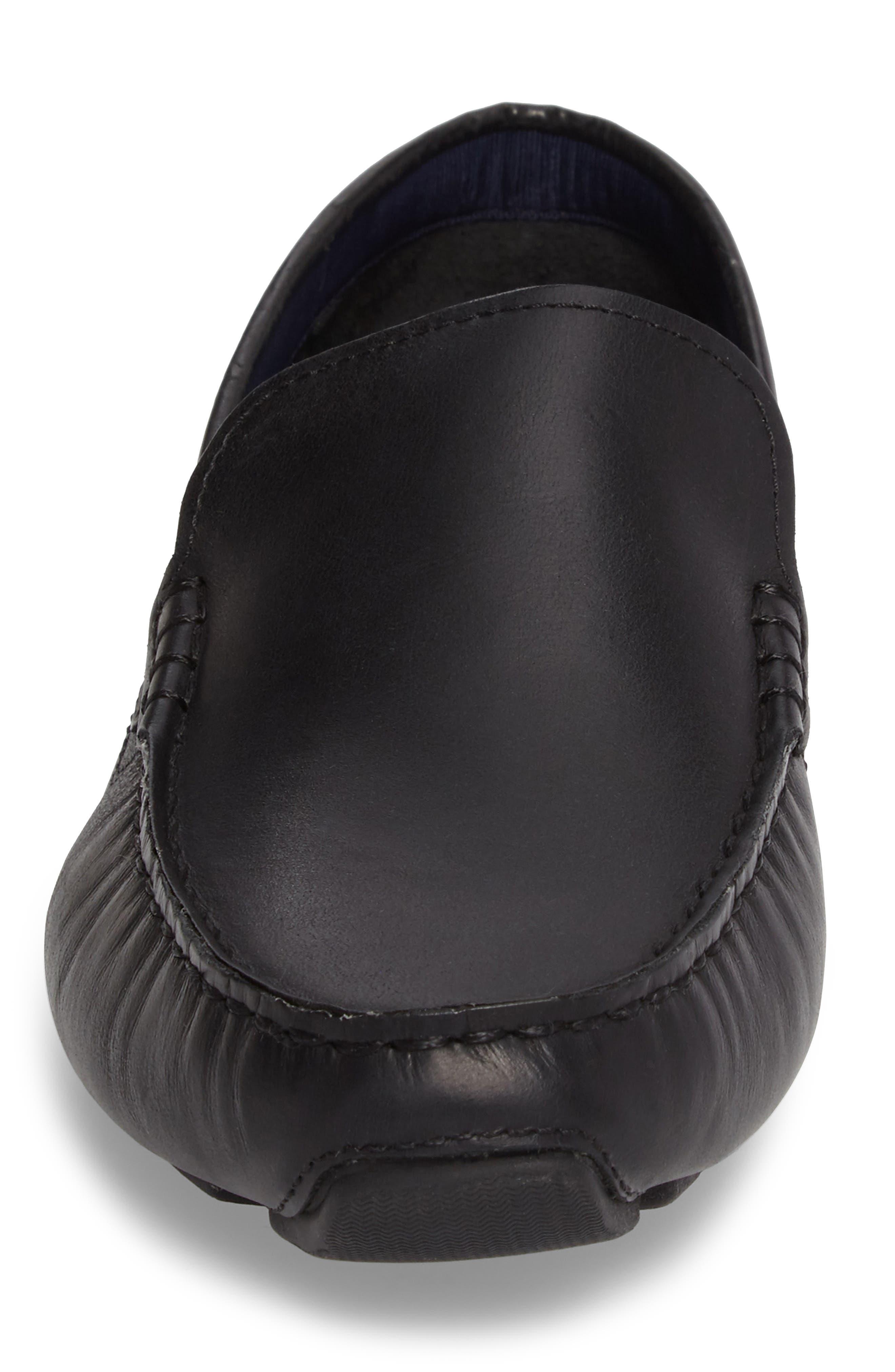 Kelson Venetian Driving Loafer,                             Alternate thumbnail 4, color,                             Black