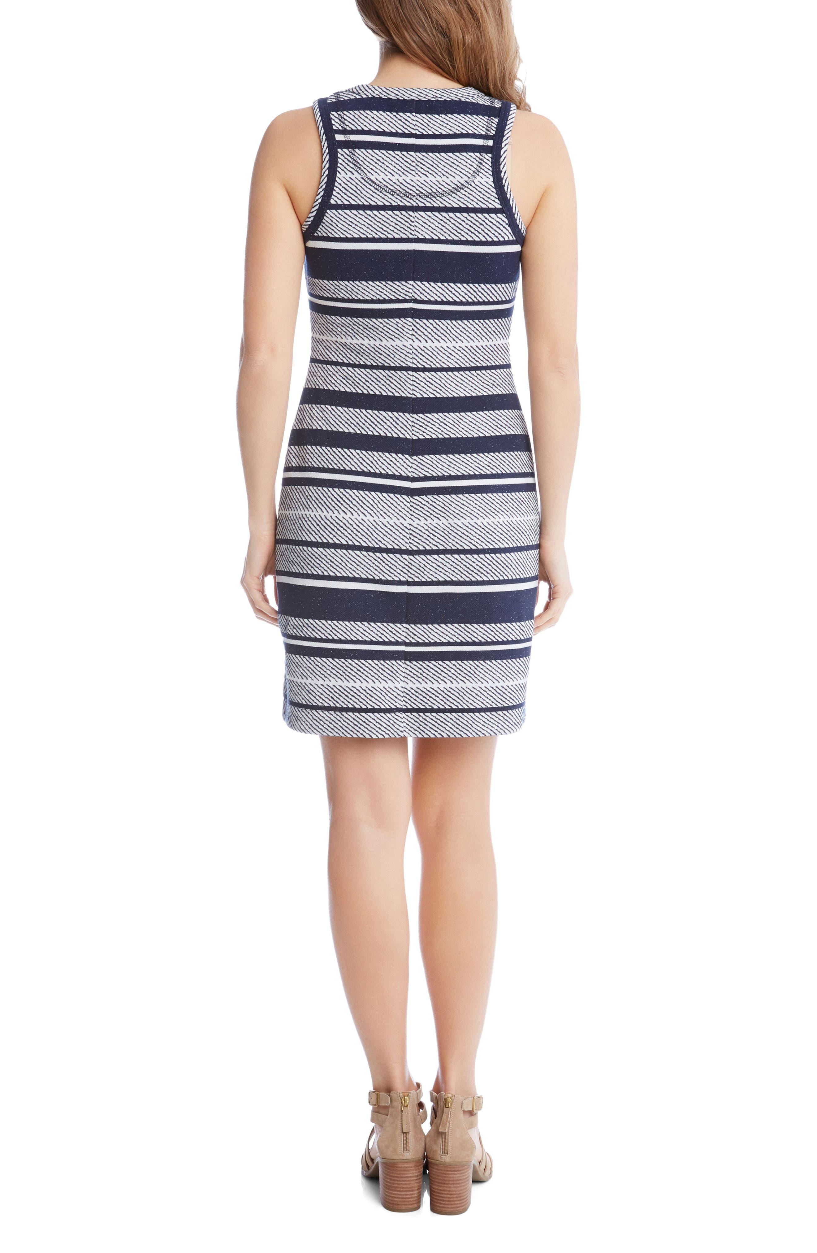 Stripe Jacquard Sheath Dress,                             Alternate thumbnail 3, color,                             Stripe