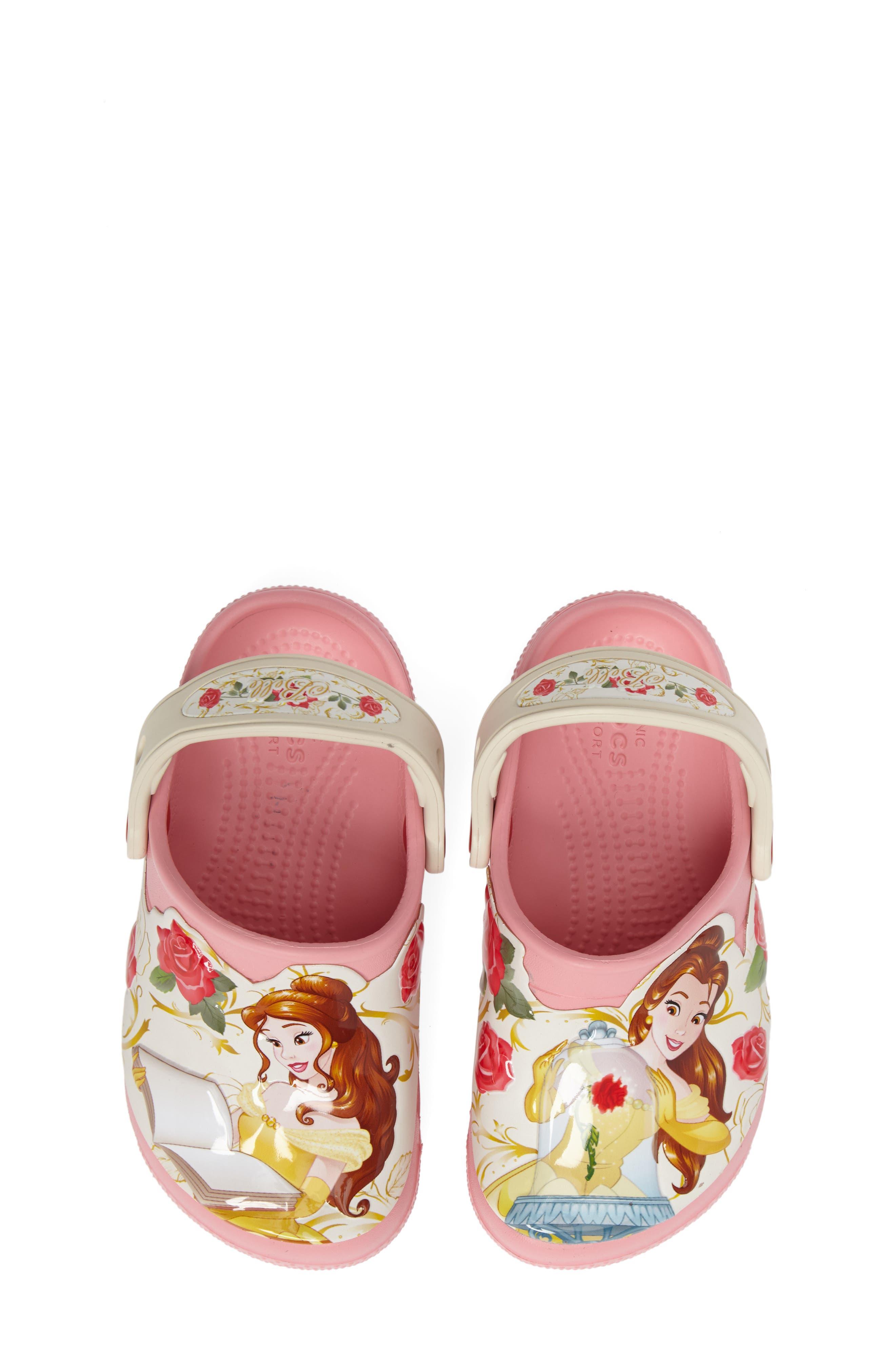 Main Image - CROCS™ Fun Lab Disney® Princess Belle Slip-On (Baby, Walker, Toddler & Little Kid)