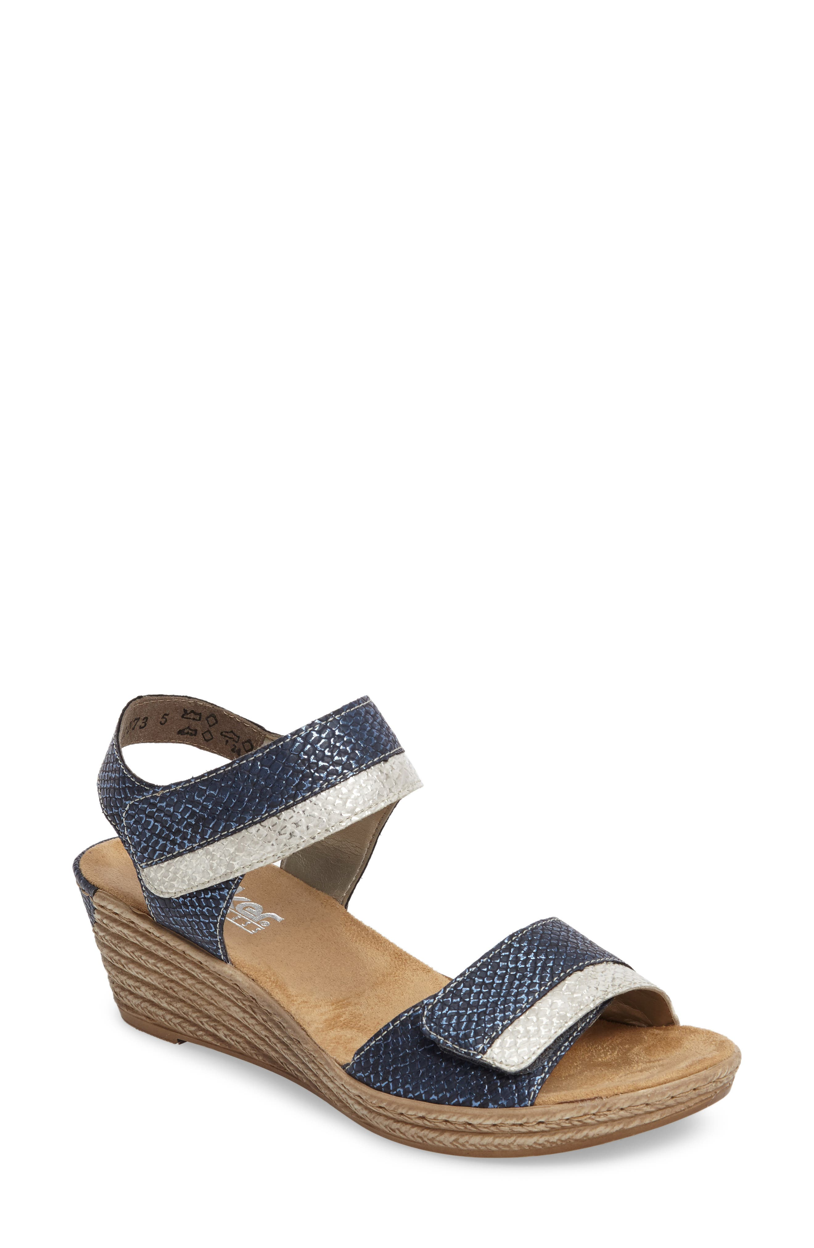 Alternate Image 1 Selected - Rieker Antistress Fanni 70 Wedge Sandal (Women)