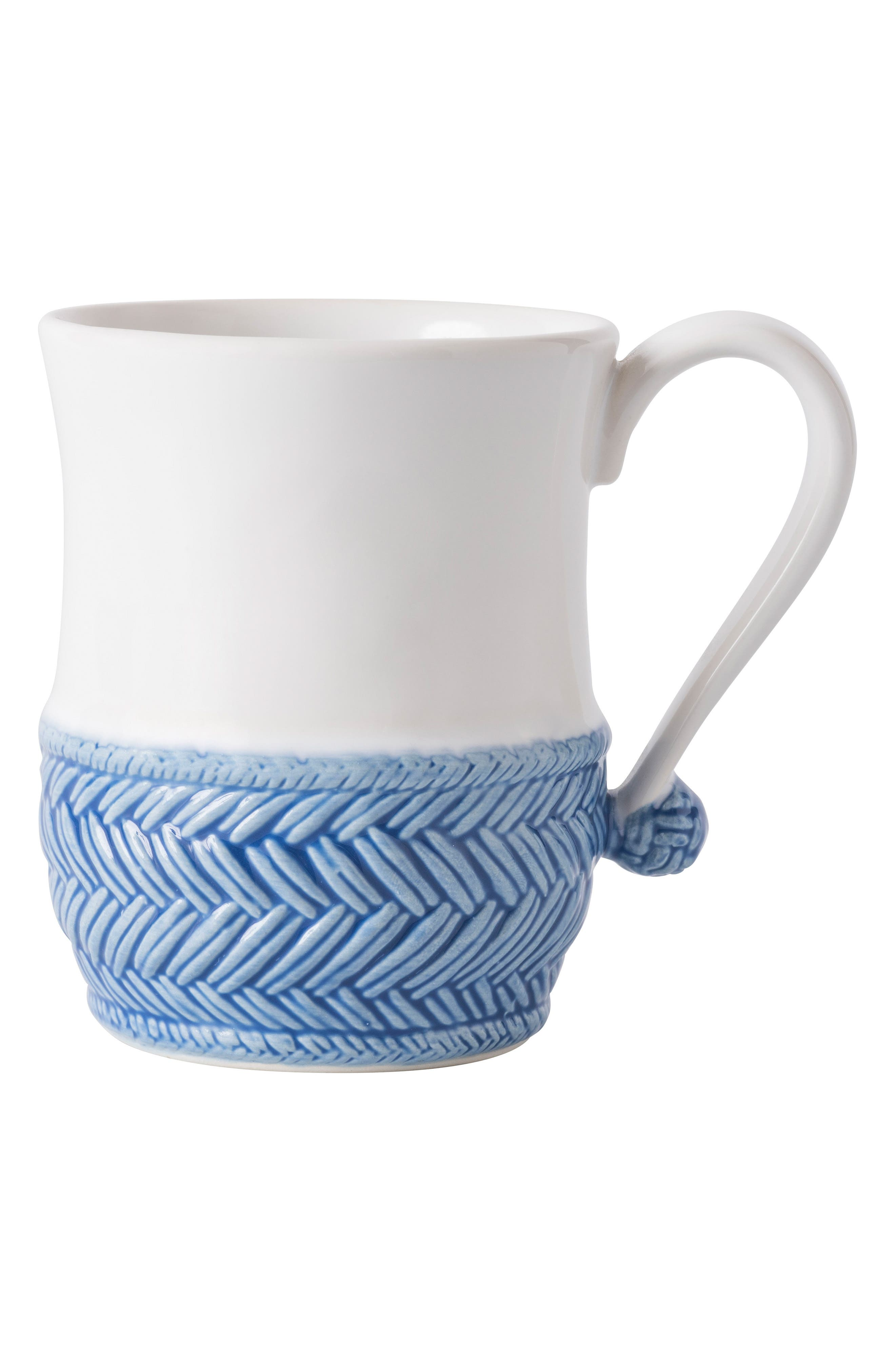Le Panier Mug,                             Main thumbnail 1, color,                             Whitewash/ Delft Blue