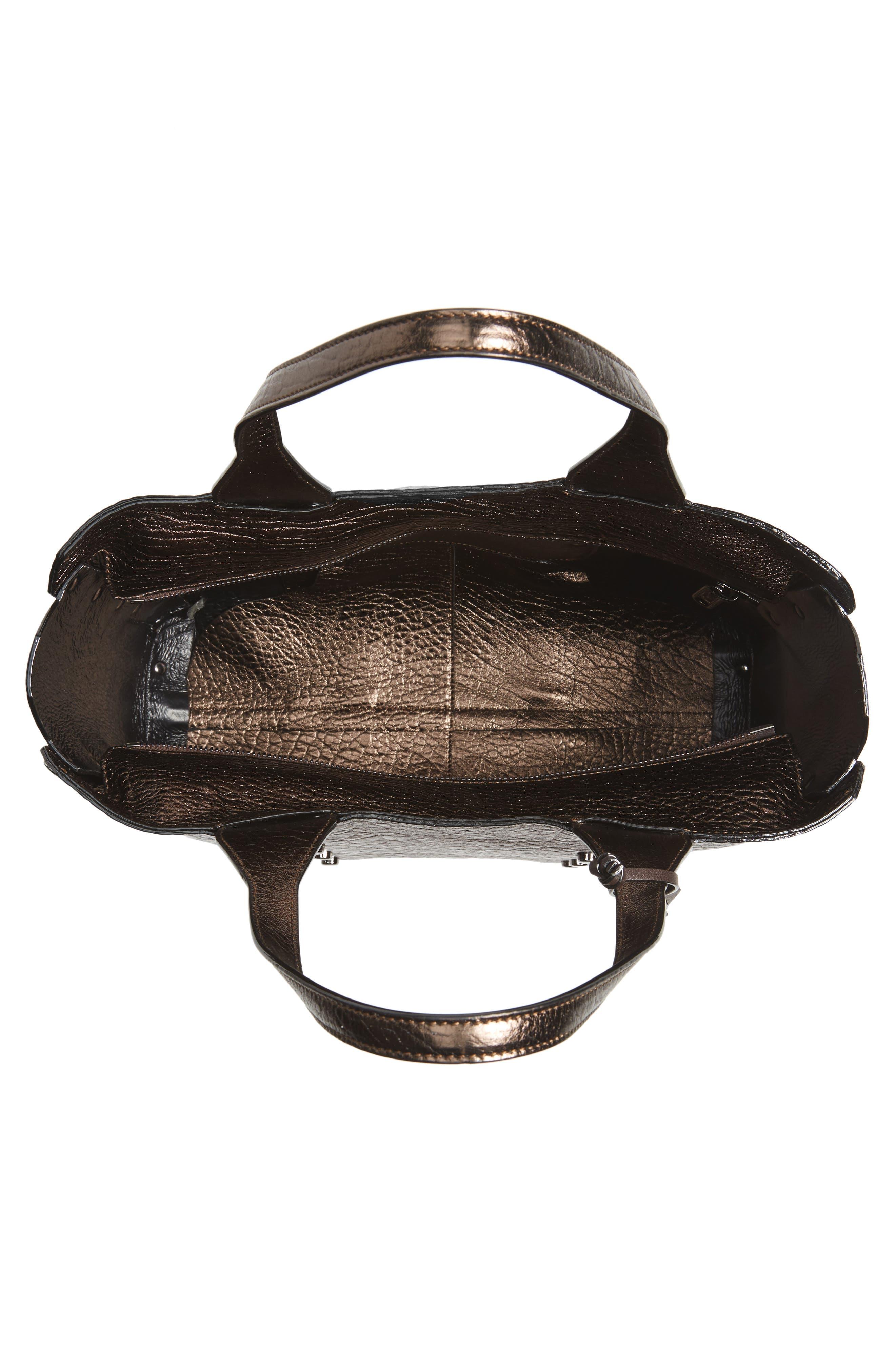Alternate Image 4  - Jimmy Choo Lockett Metallic Leather Shopper