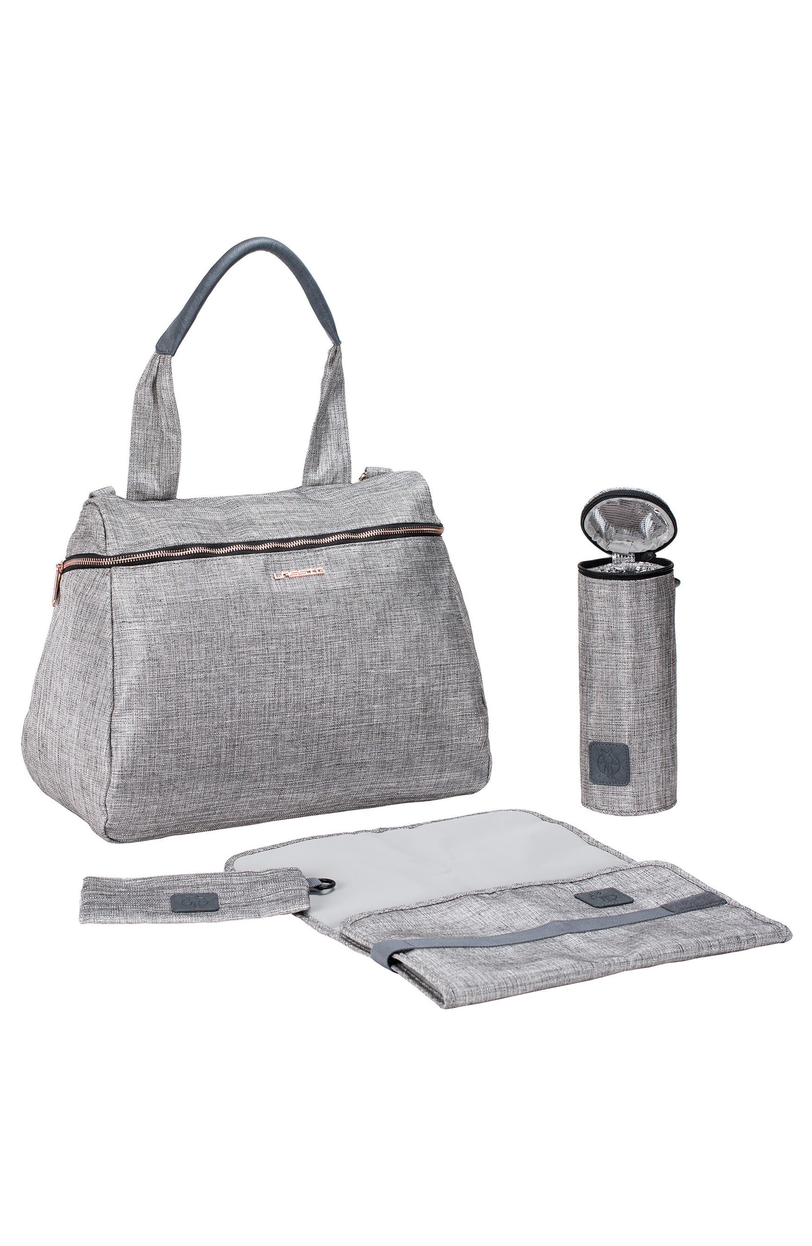 Glam Rosie Diaper Bag,                             Alternate thumbnail 5, color,                             Anthracite Glitter