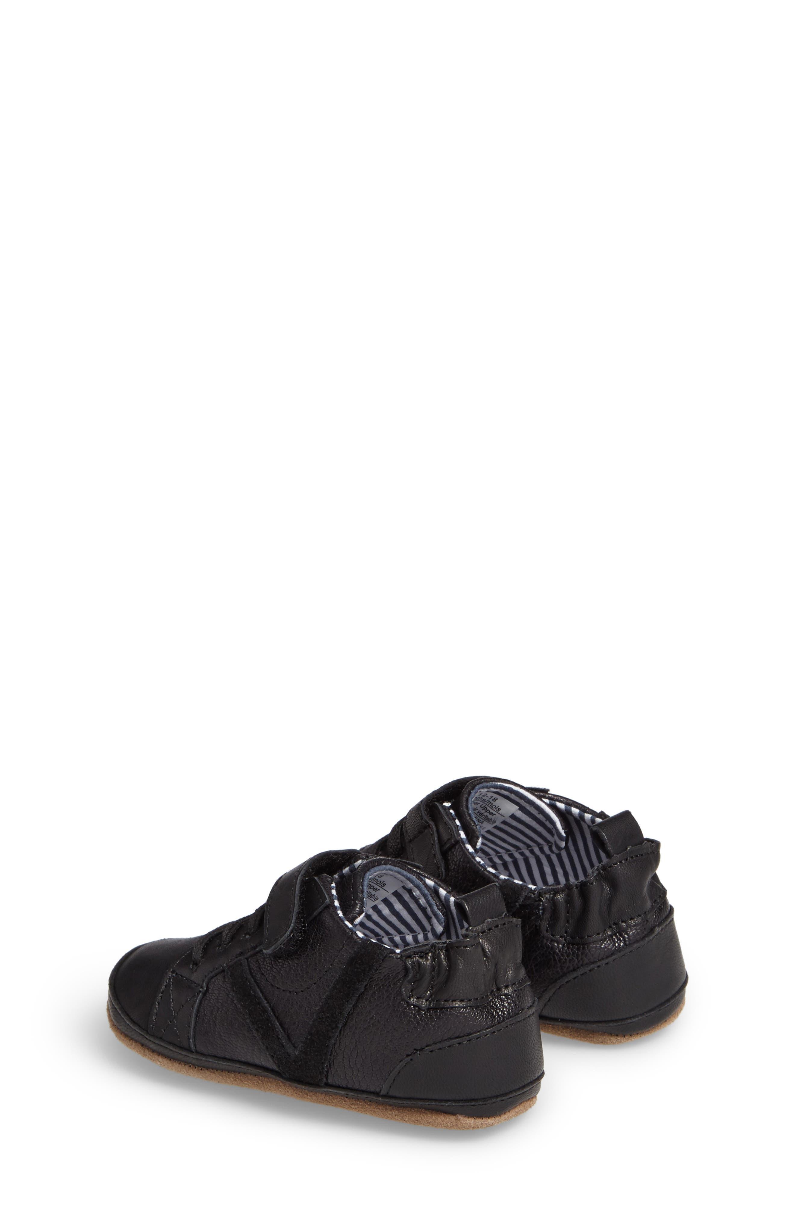 Asher Crib Shoe,                             Alternate thumbnail 2, color,                             Black