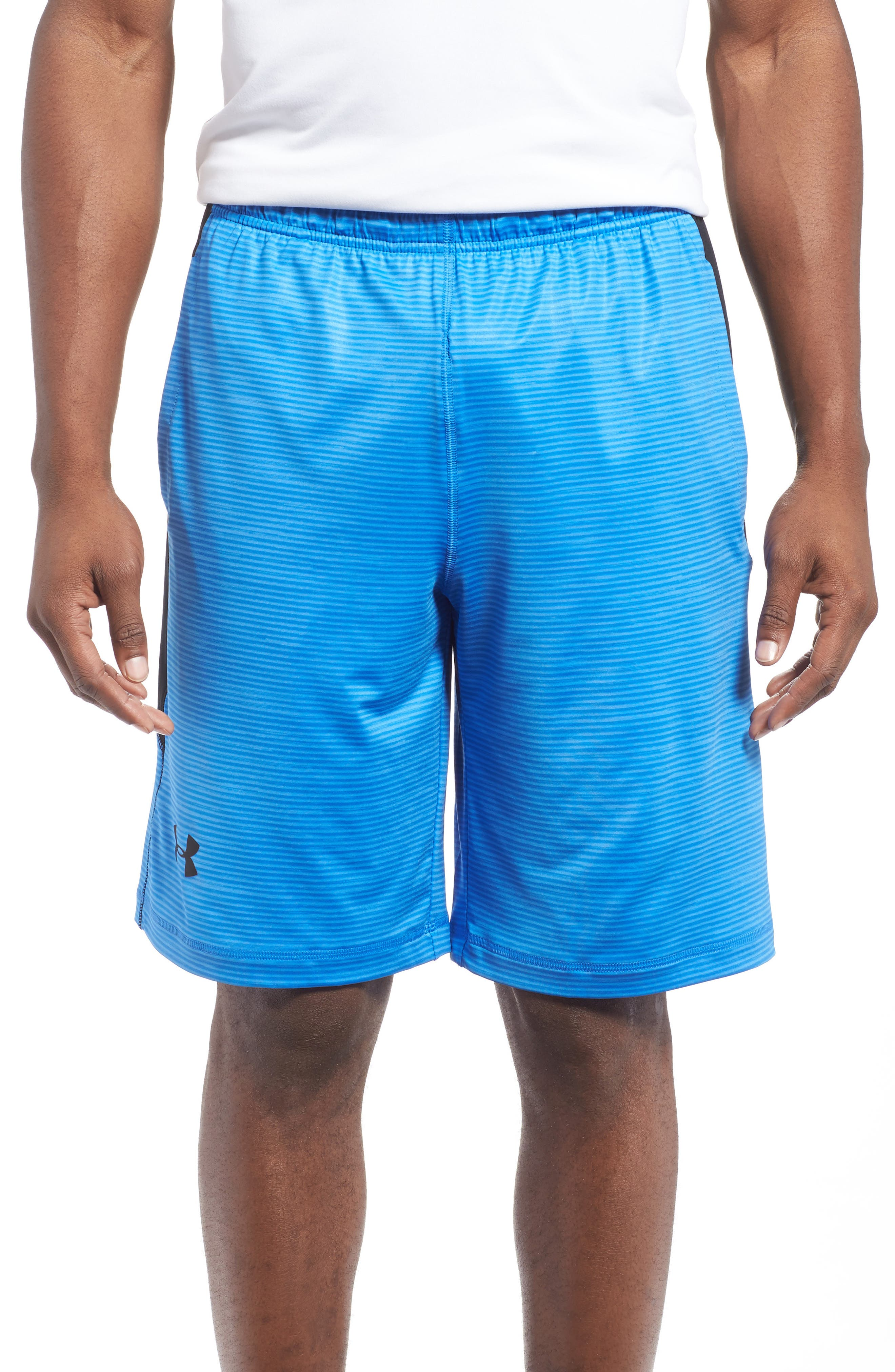 Main Image - Under Armour 'Raid' HeatGear® Loose Fit Athletic Shorts