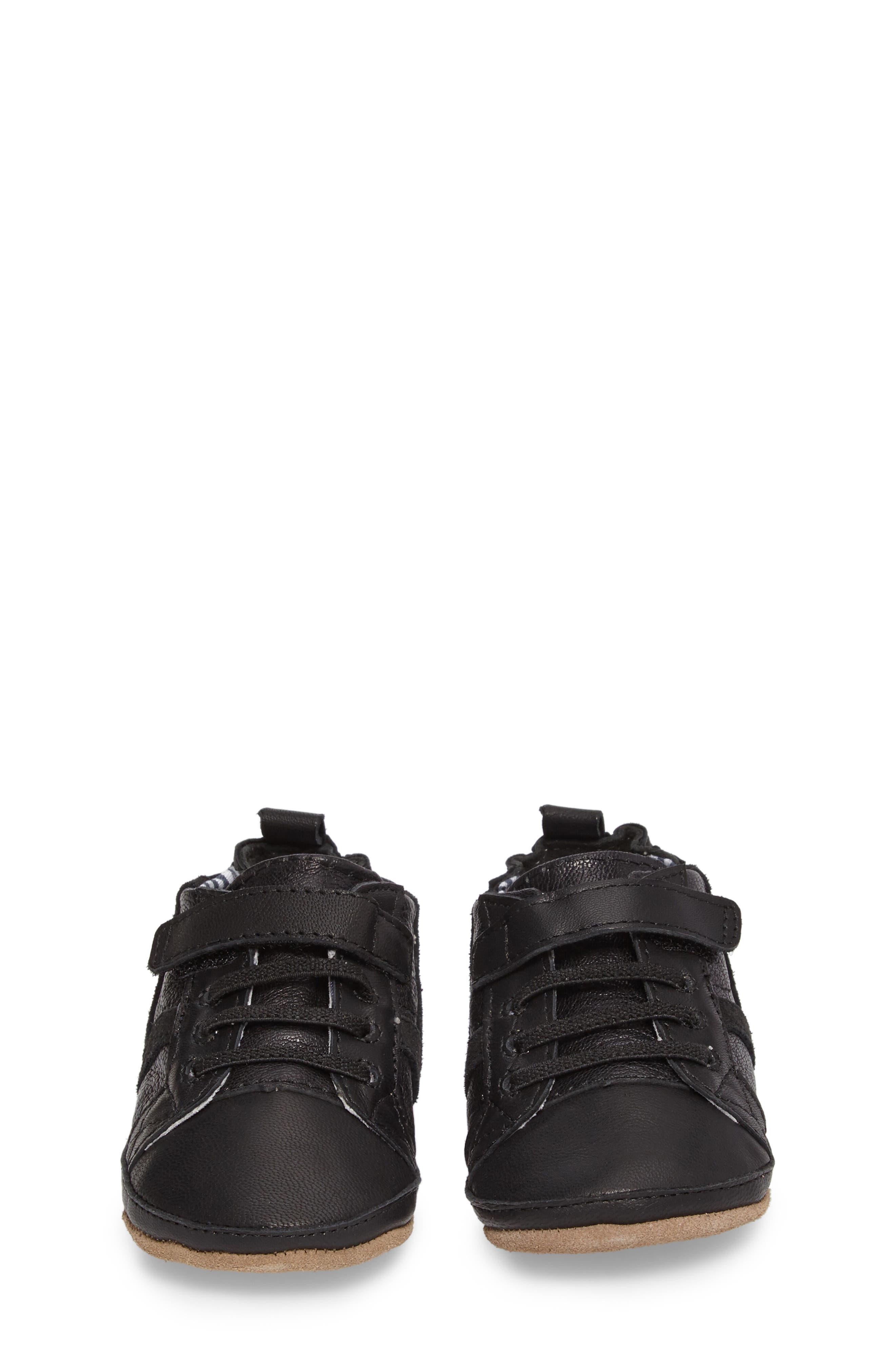 Asher Crib Shoe,                             Alternate thumbnail 4, color,                             Black