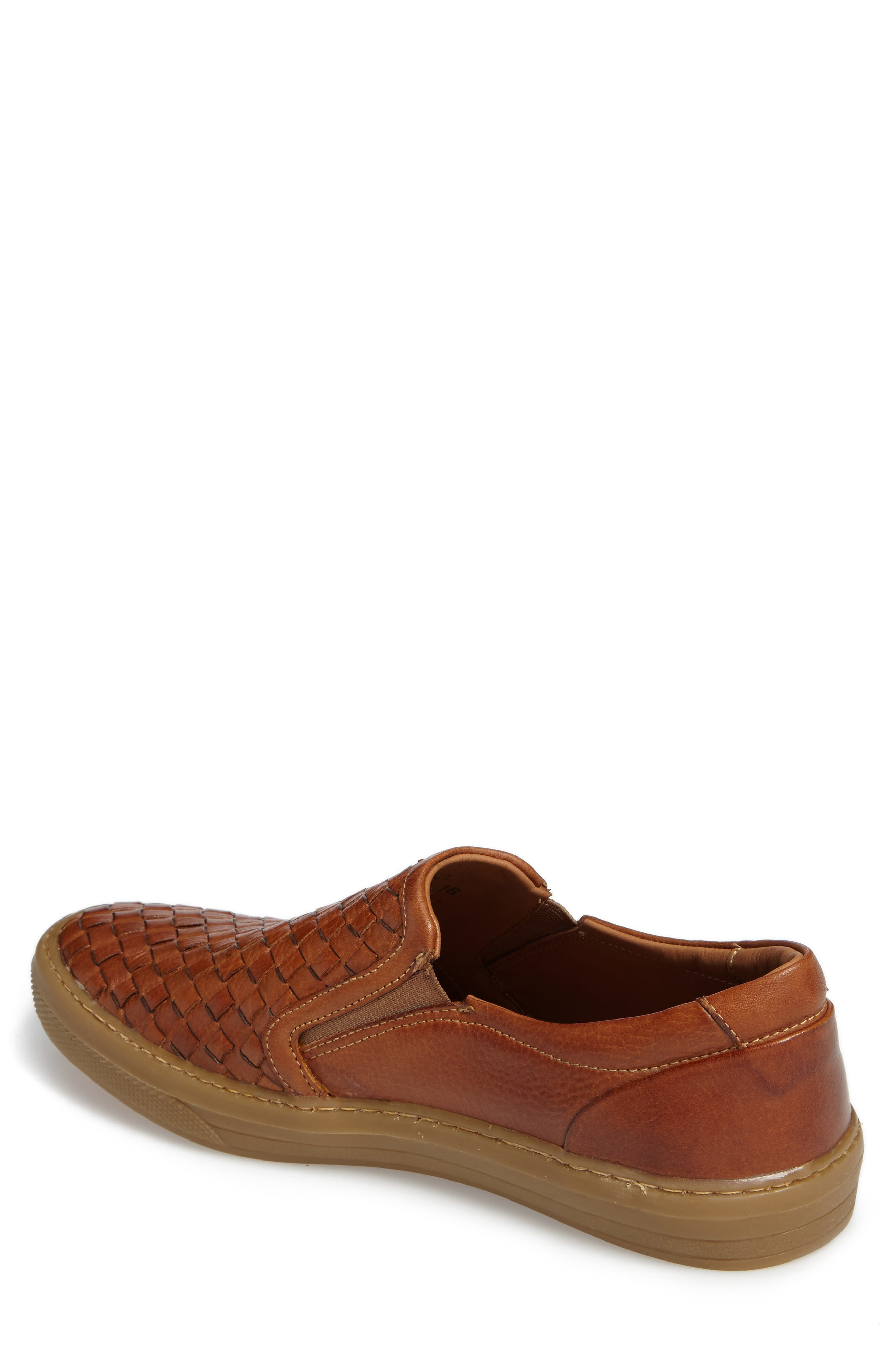 Bastos Woven Slip-On,                             Alternate thumbnail 2, color,                             Cognac Leather