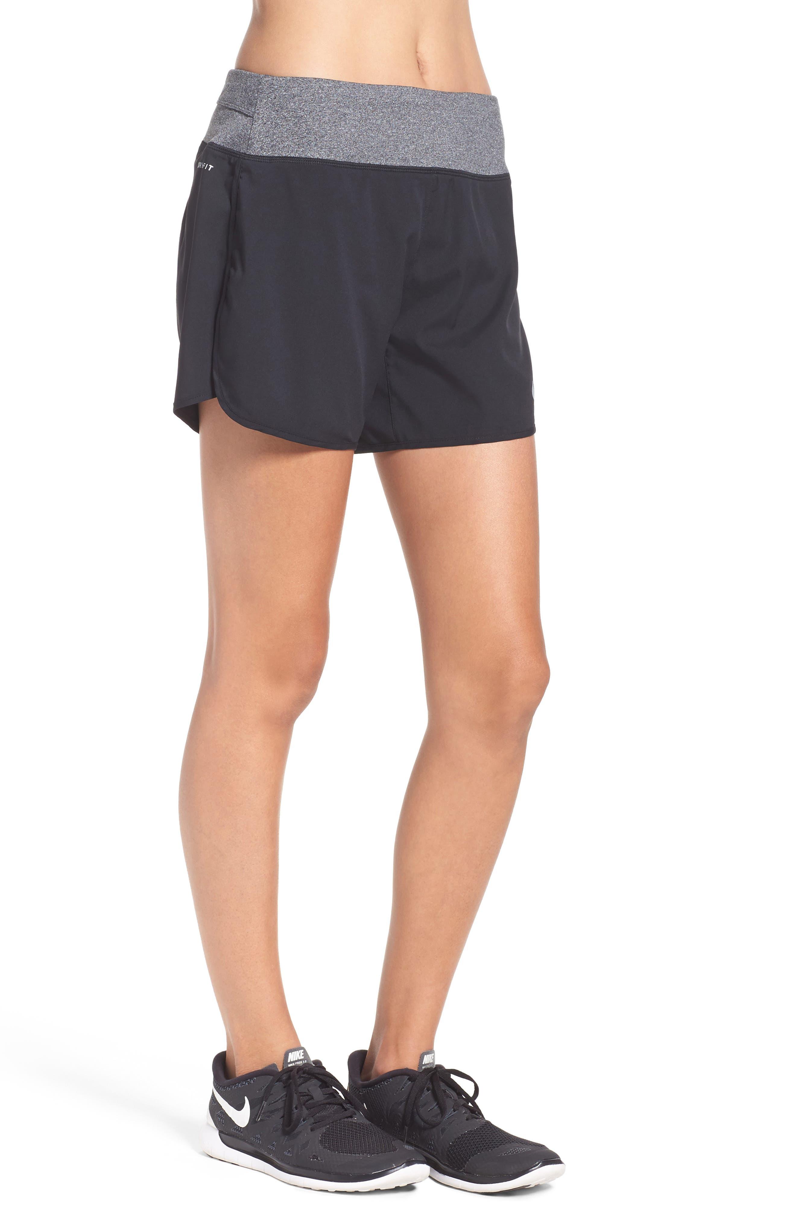 Flex Running Shorts,                             Alternate thumbnail 3, color,                             Black