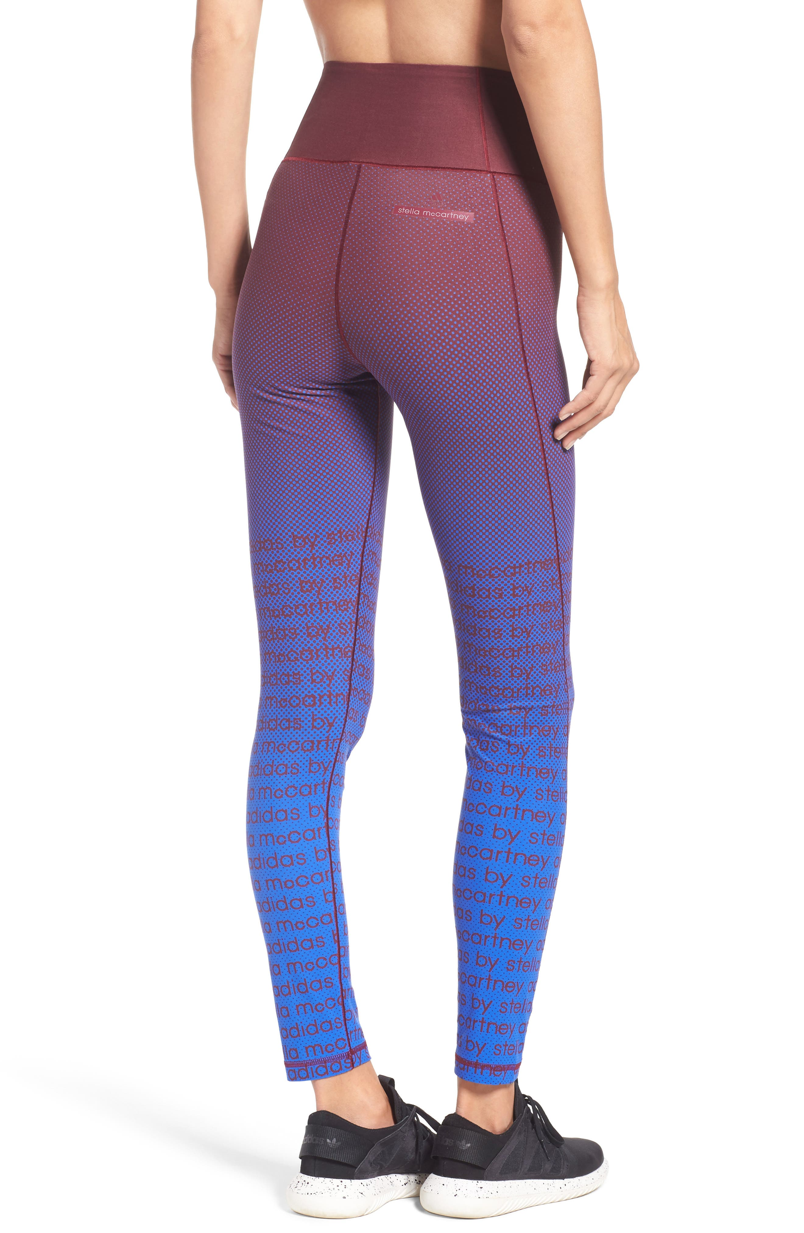 Training Tights,                             Alternate thumbnail 2, color,                             Cherry Wood/ Bold Blue