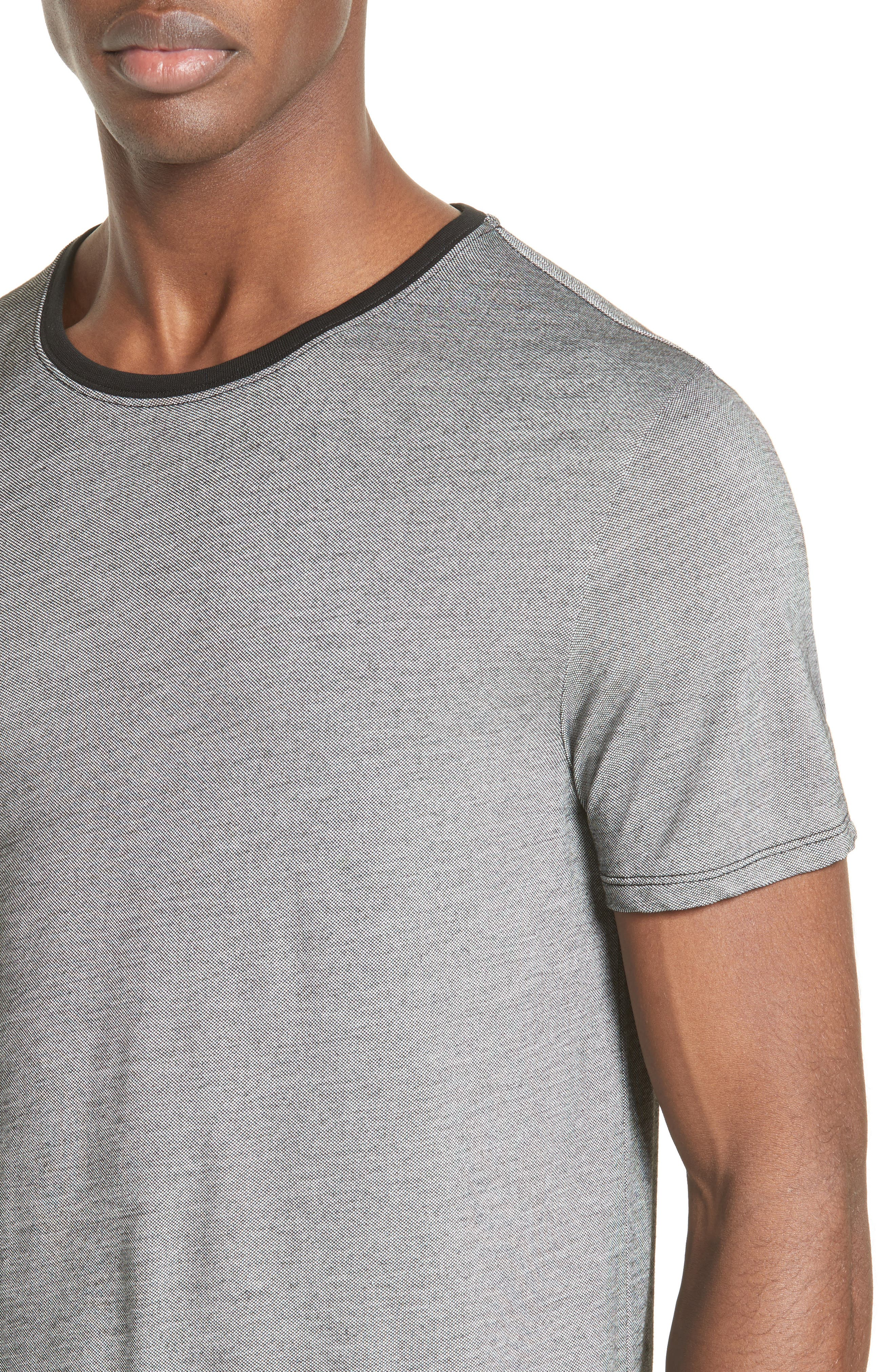 Contrast Crewneck T-Shirt,                             Alternate thumbnail 4, color,                             Grey