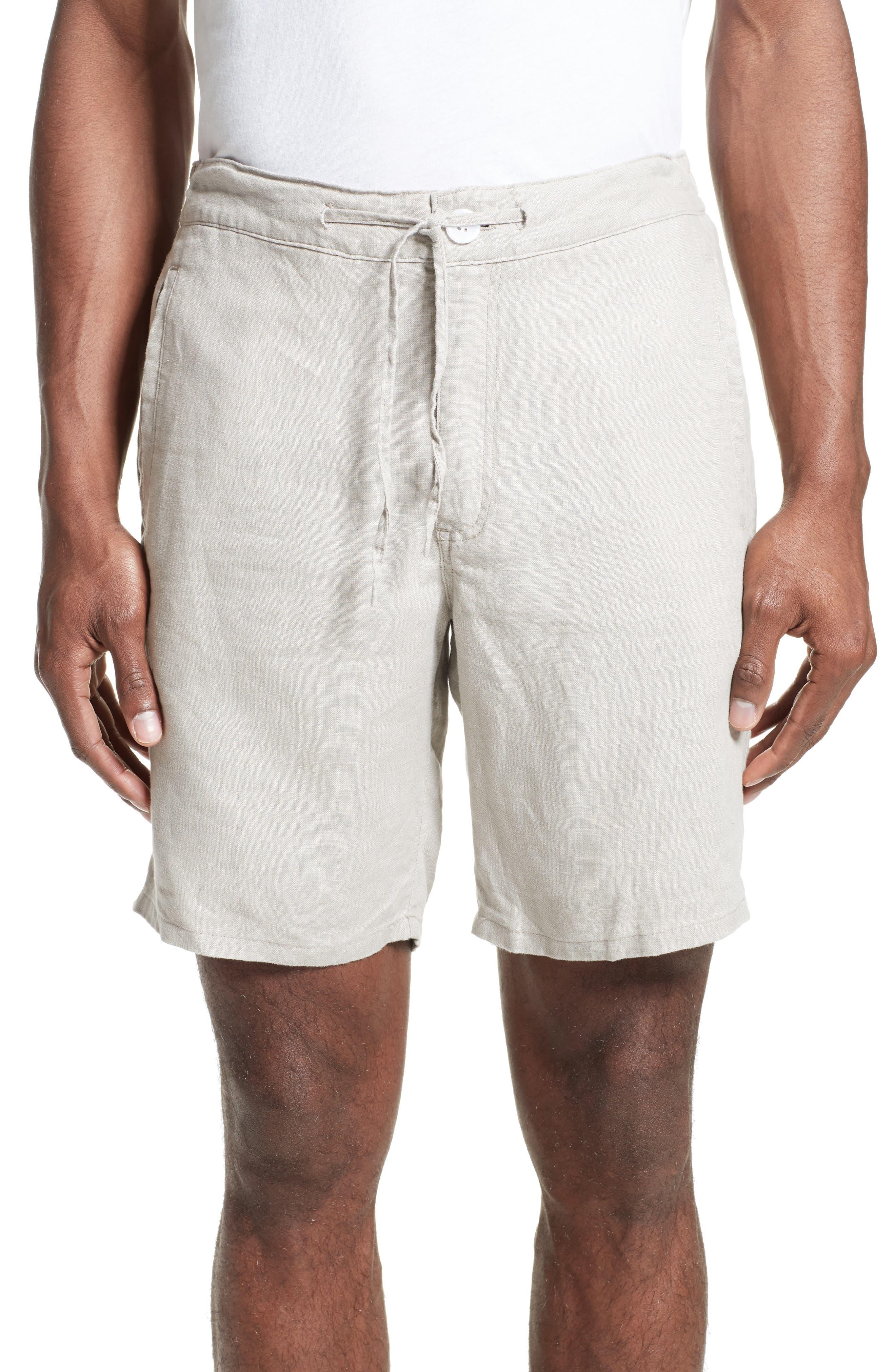 Max Linen Shorts,                         Main,                         color, Dune