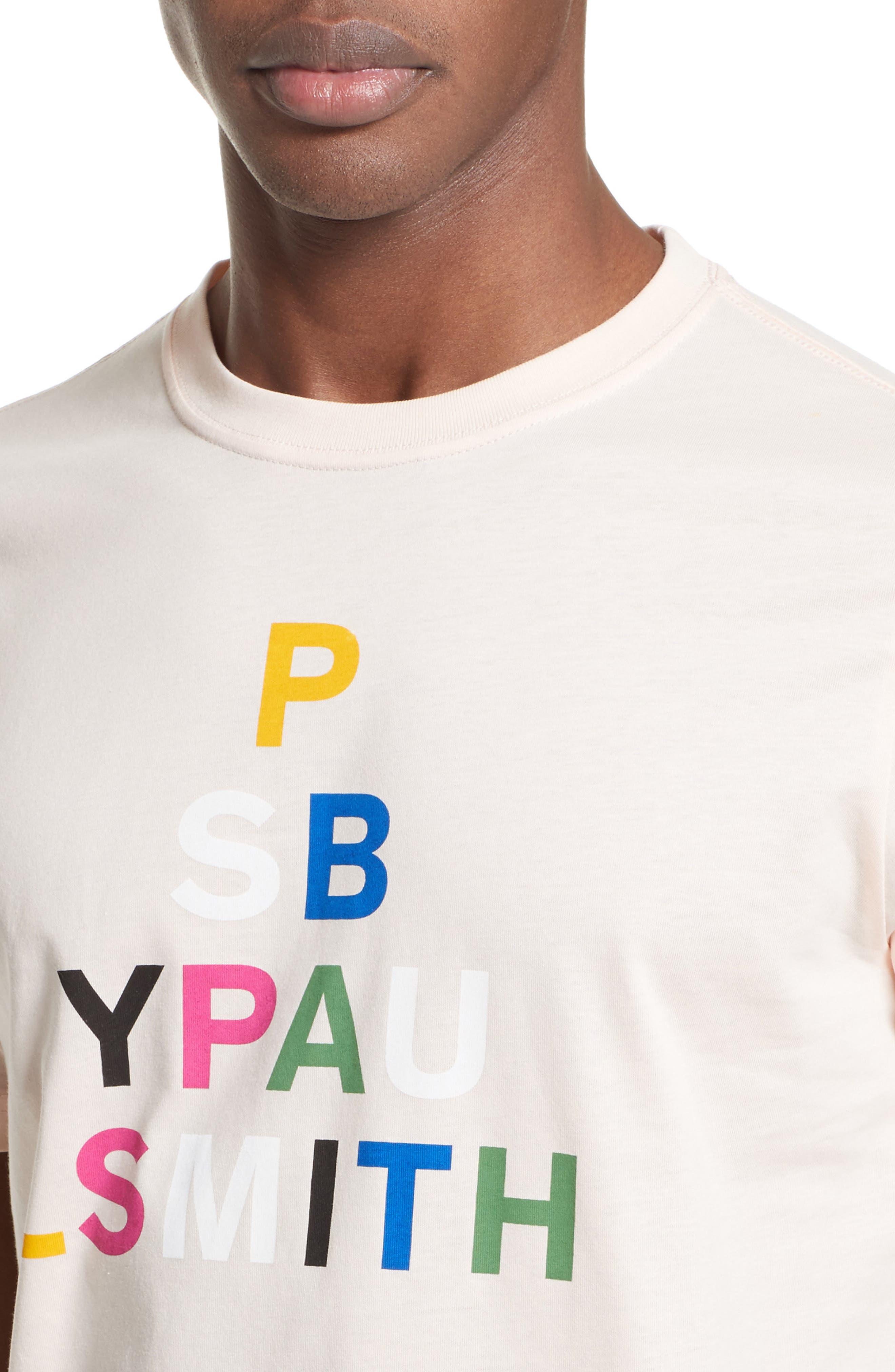 Logo Print T-Shirt,                             Alternate thumbnail 4, color,                             Pink